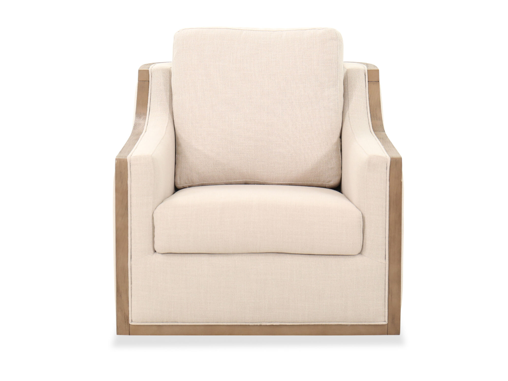 Casual Swivel Accent Chair In Beige Mathis Brothers Furniture