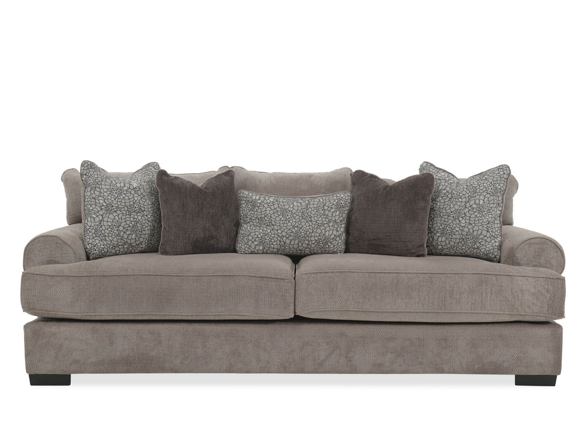 images low profile 96 quot sofa in gray