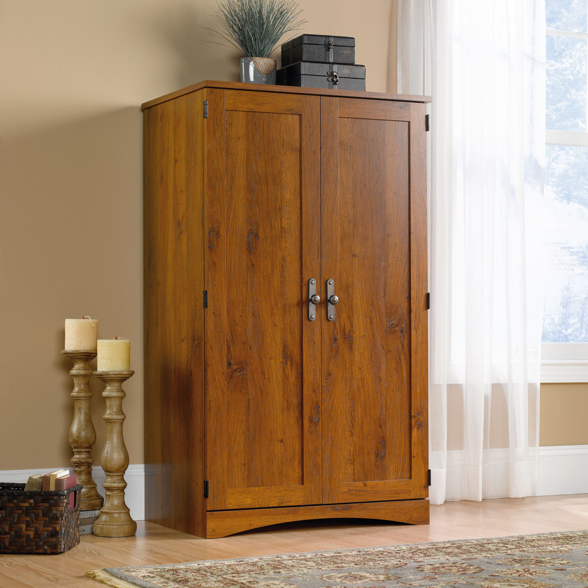 Armoires   Wardrobes   Mathis Brothers Furniture Stores 54 quot  Transitional Computer Armoire nbsp