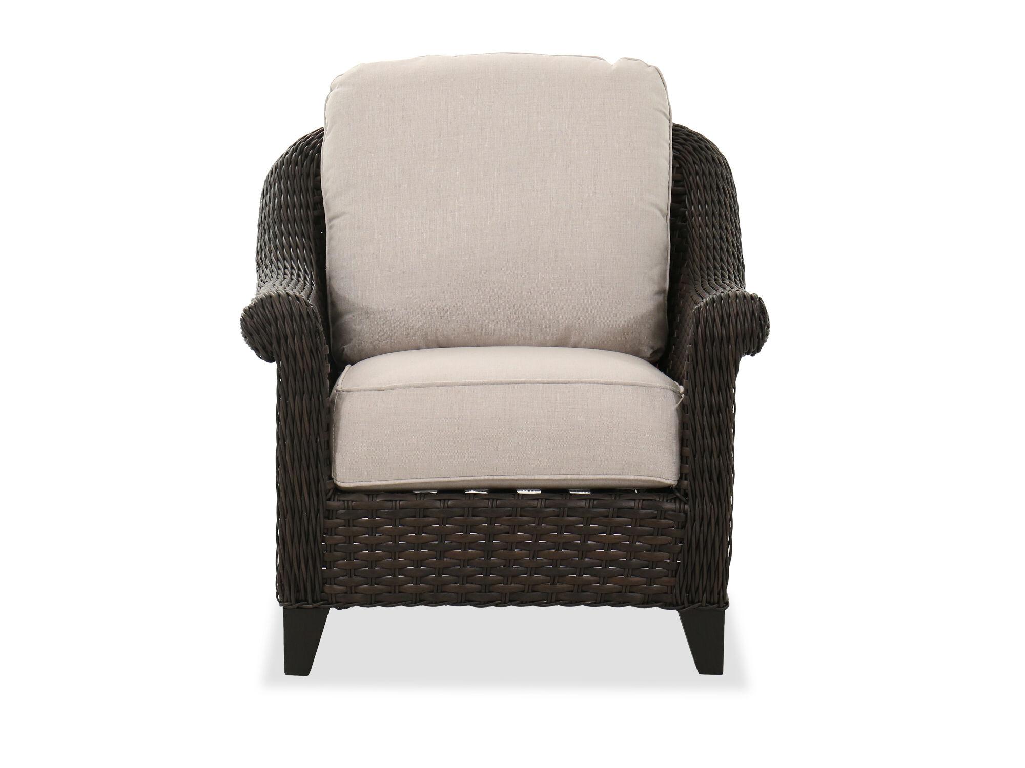 patio club chair in dark brown