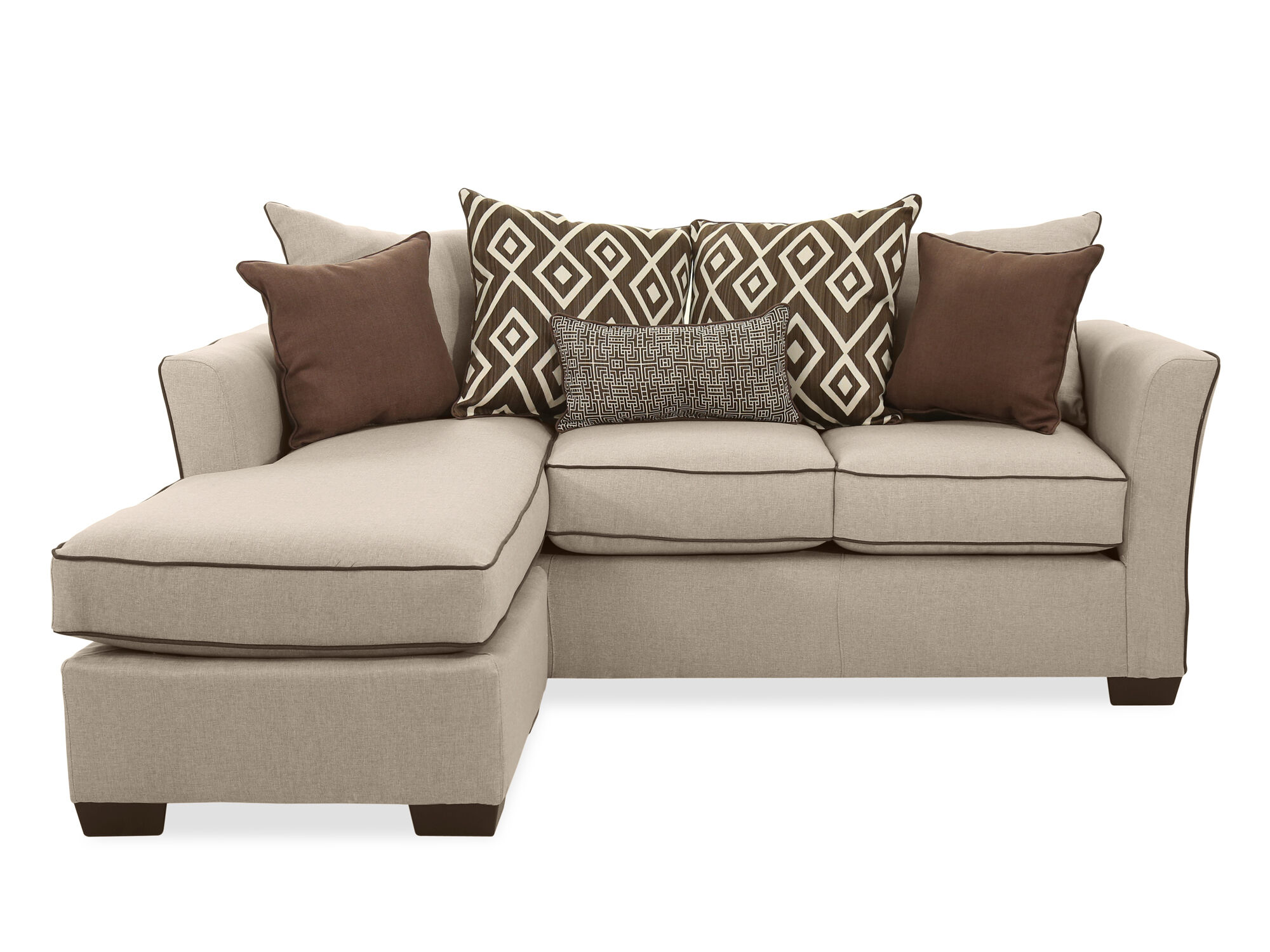 transitional 86 quot sofa with chaise in stewart