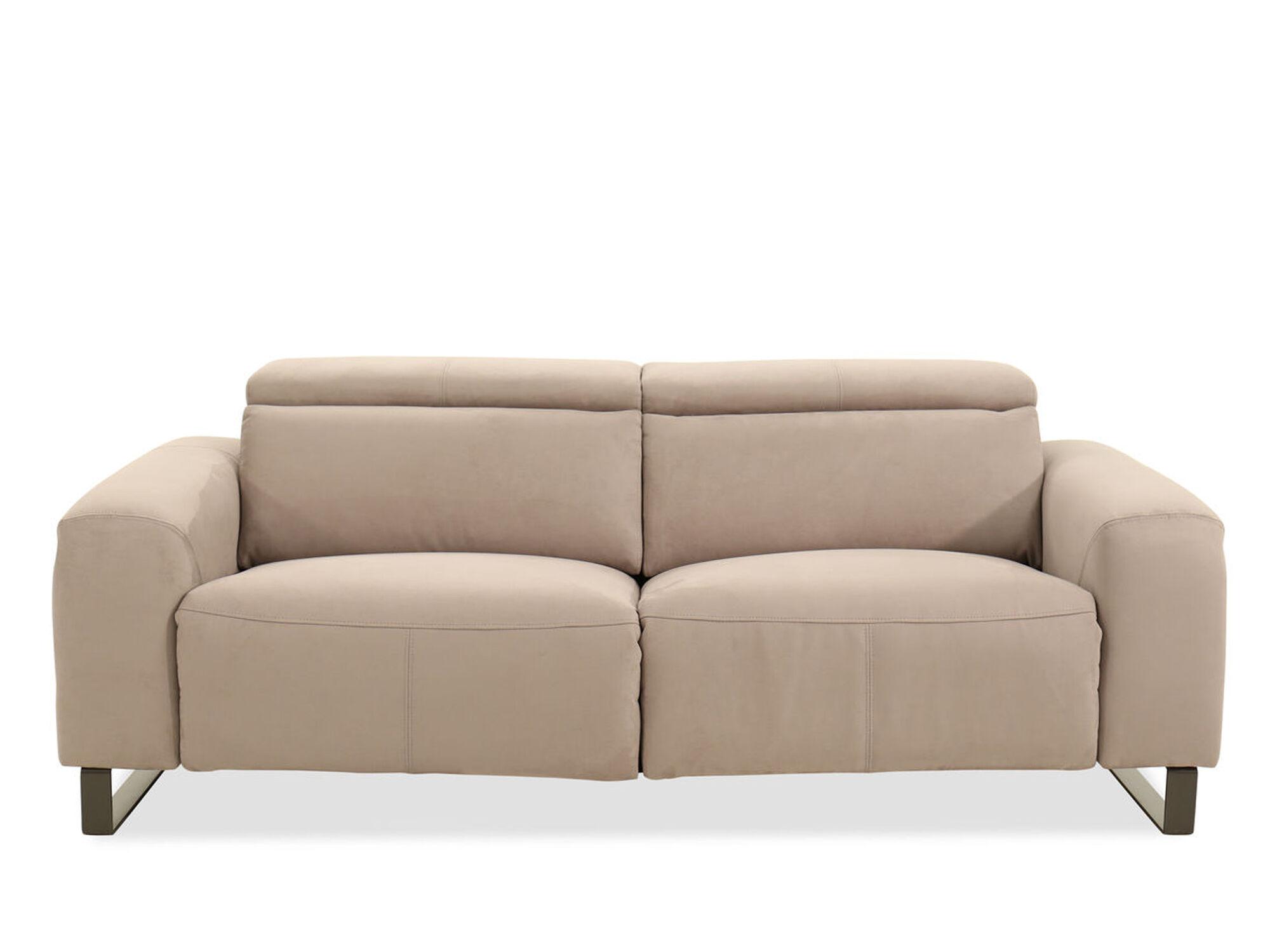 microfiber 84 reclining sofa in beige