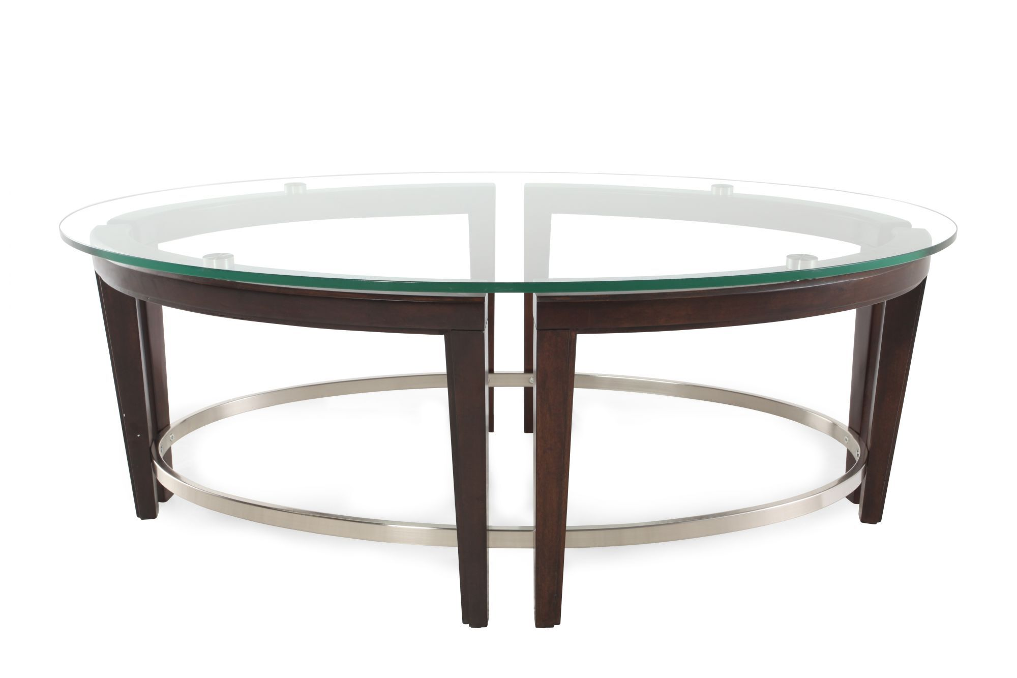 glass top oval contemporary cocktail