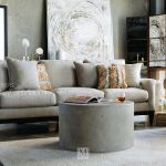 Barrel Back Contemporary 34 Swivel Chair In Beige Mathis