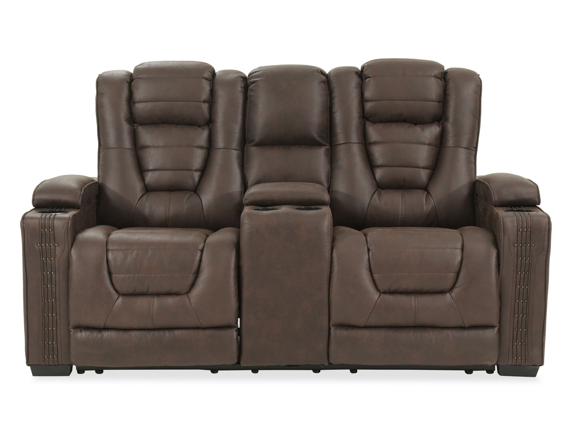 Power Reclining Ranch House 74 Consoled Loveseat In Brown