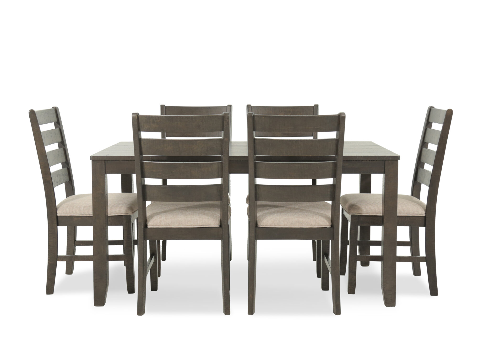 Seven Piece Contemporary 60 Dining Set In Brown Mathis