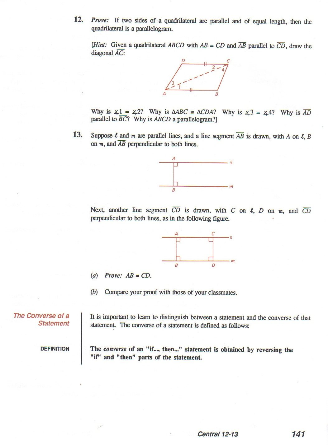 Geometry Proving Exercises With Answers