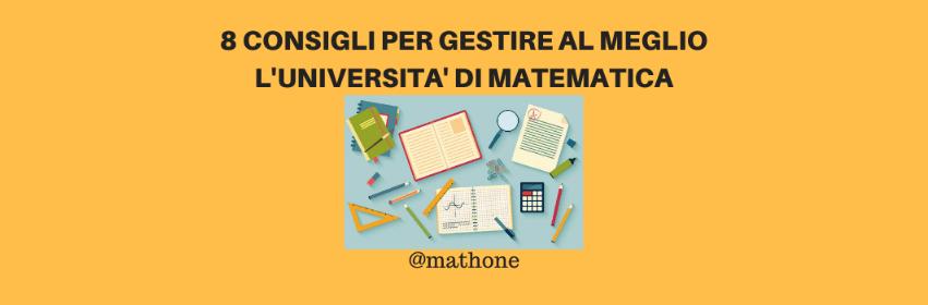 gestire università di matematica