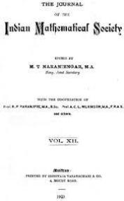 Journal of the Indian Mathematical Society
