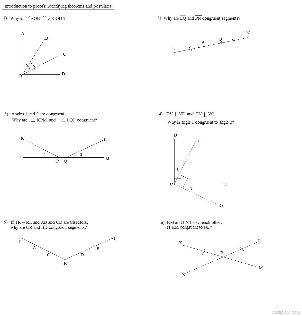 Worksheet On Geometry Incidence Theorems