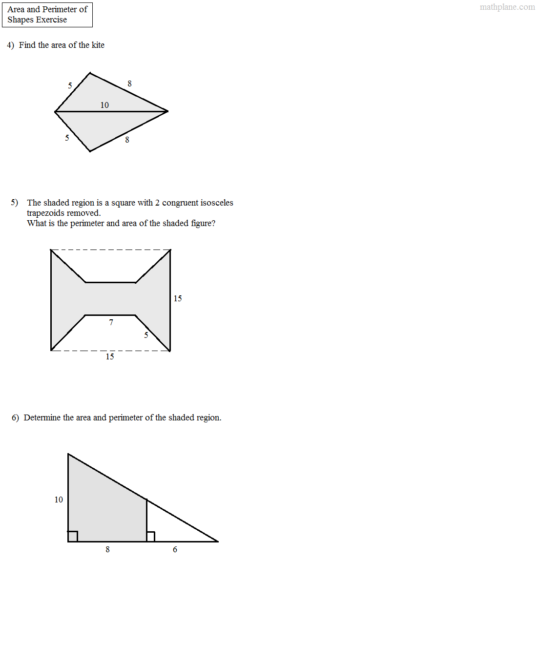Worksheet Composite Figures Area Worksheet Worksheet Fun