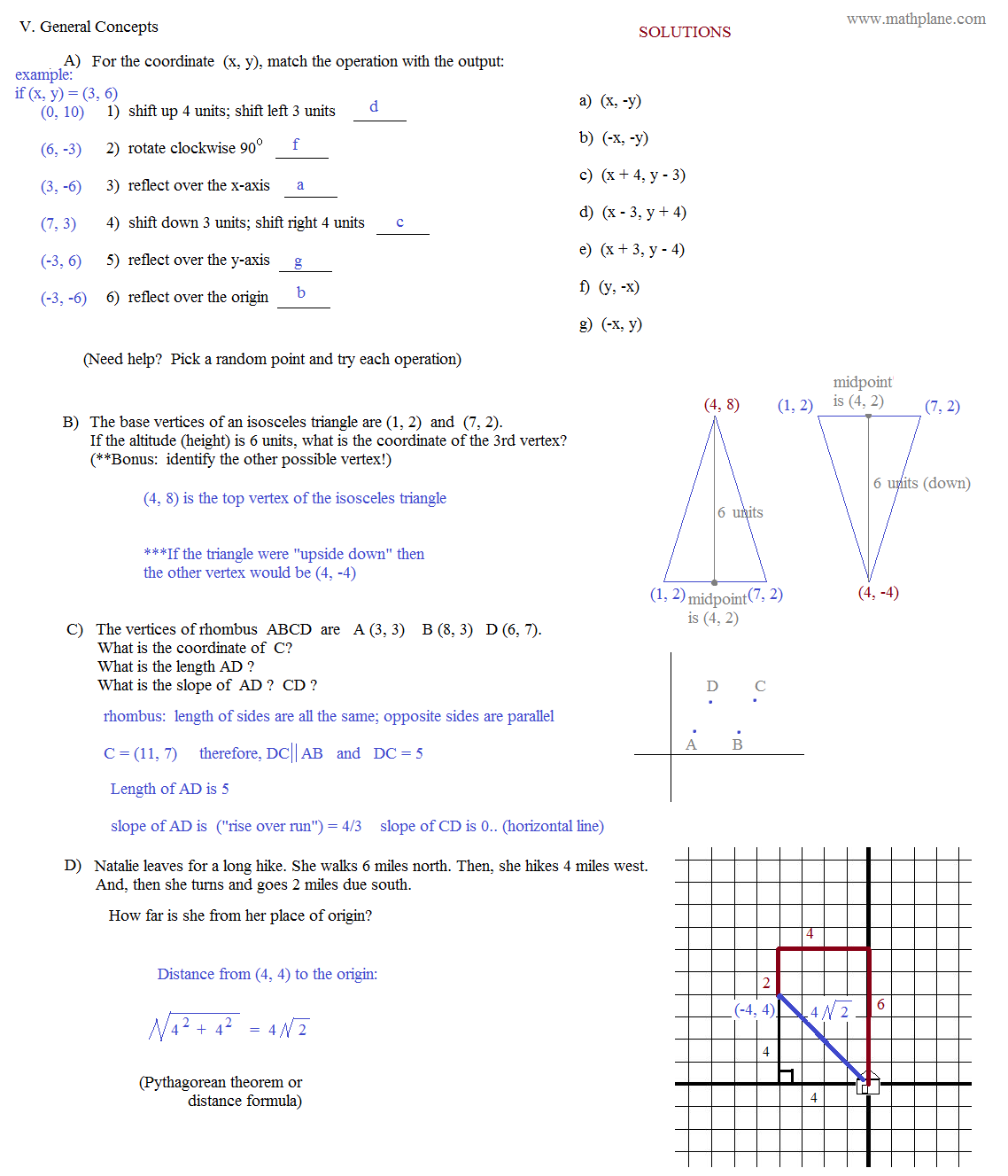 Graphing Coordinates Worksheet 8th Grade
