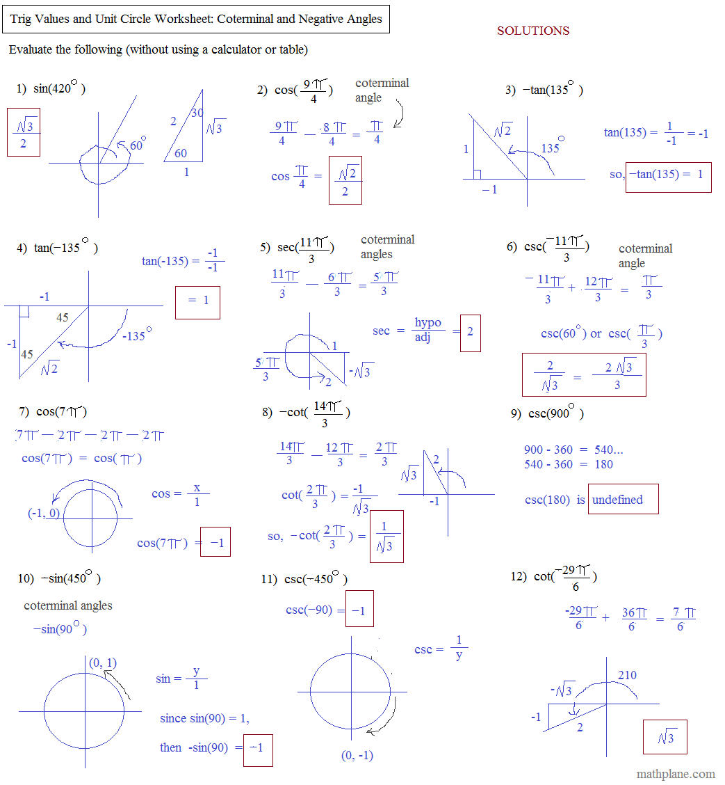 Kuta Worksheet Circles