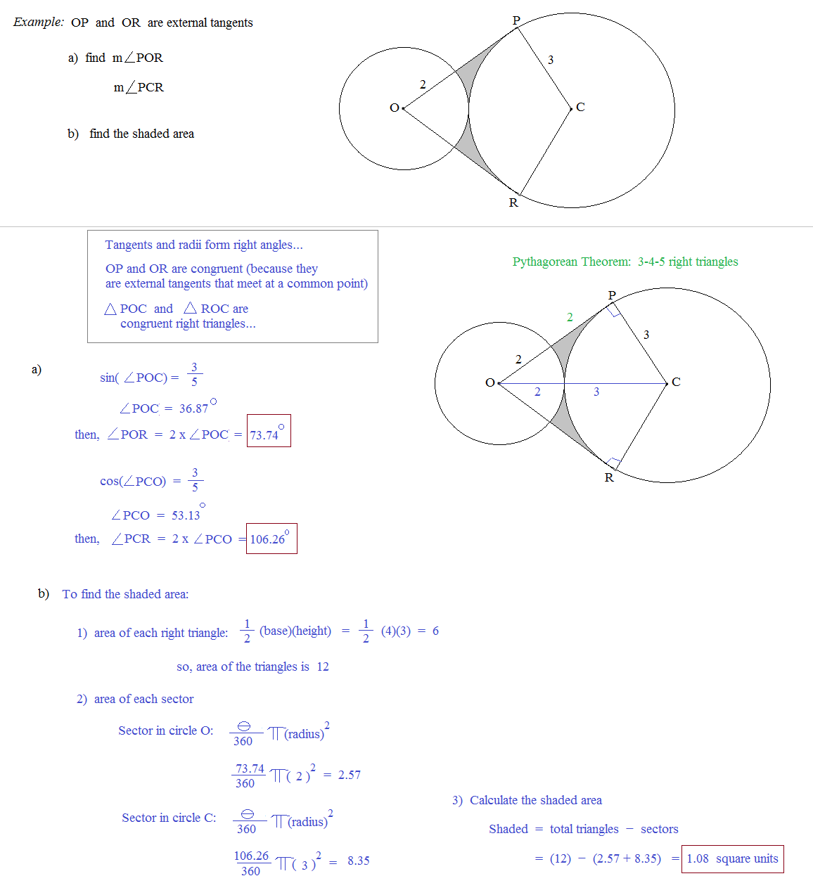30 Geometry Circles Review Worksheet