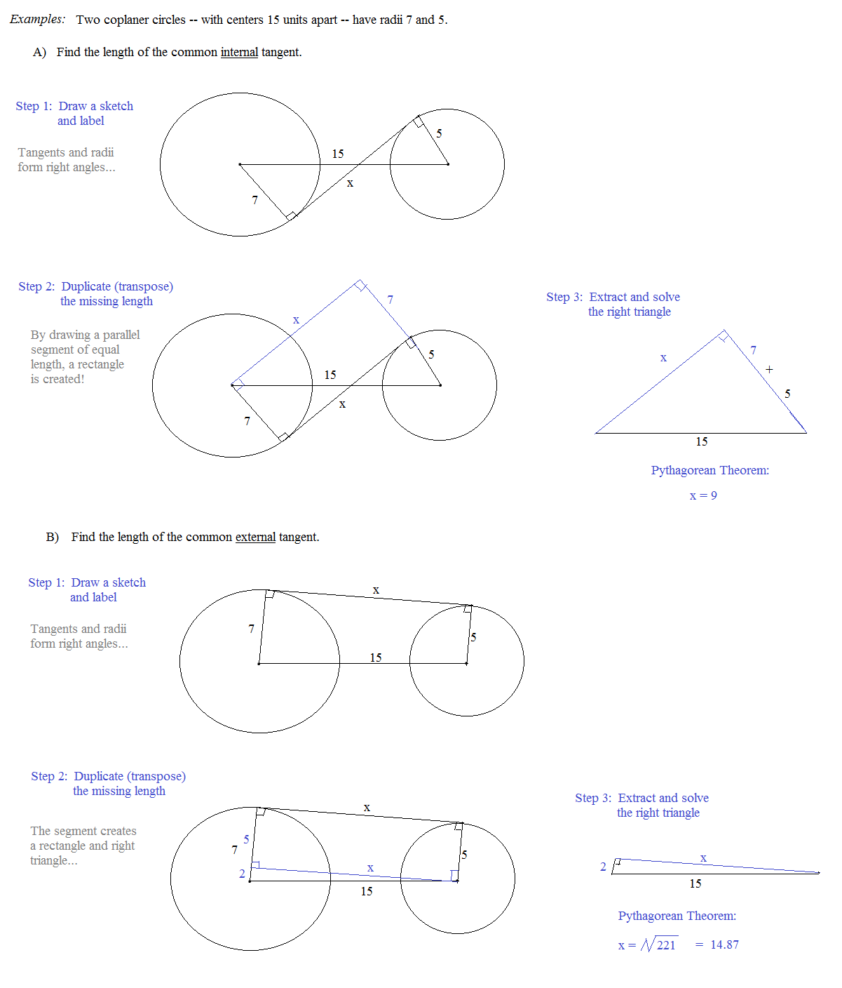 Tangents To Circles Worksheet