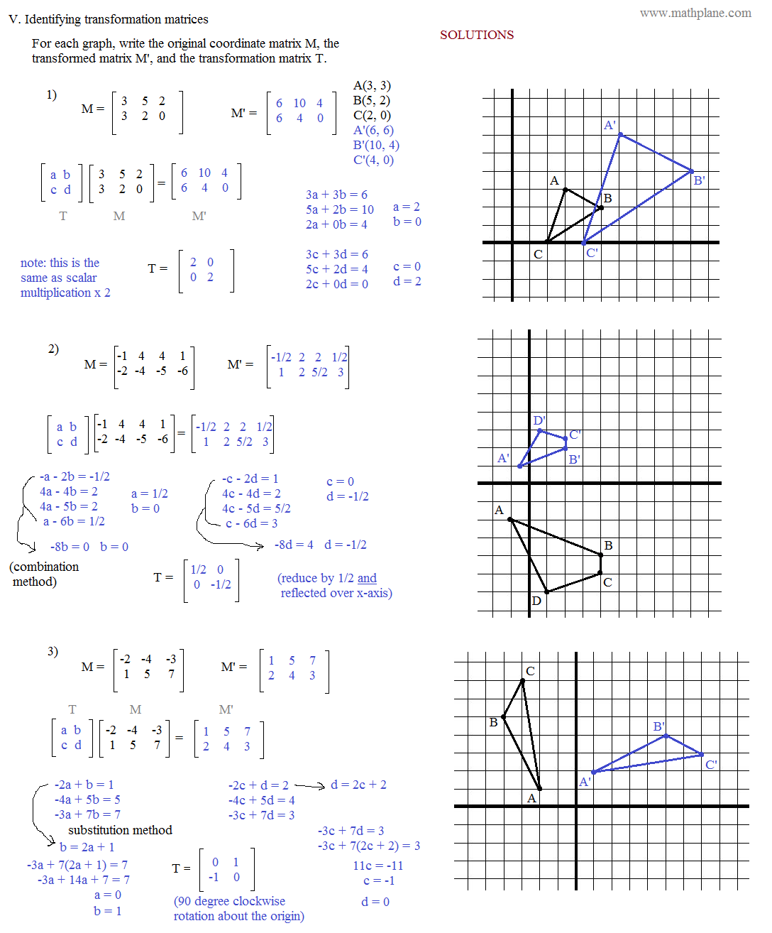 Reflection Notation Geometry Worksheet