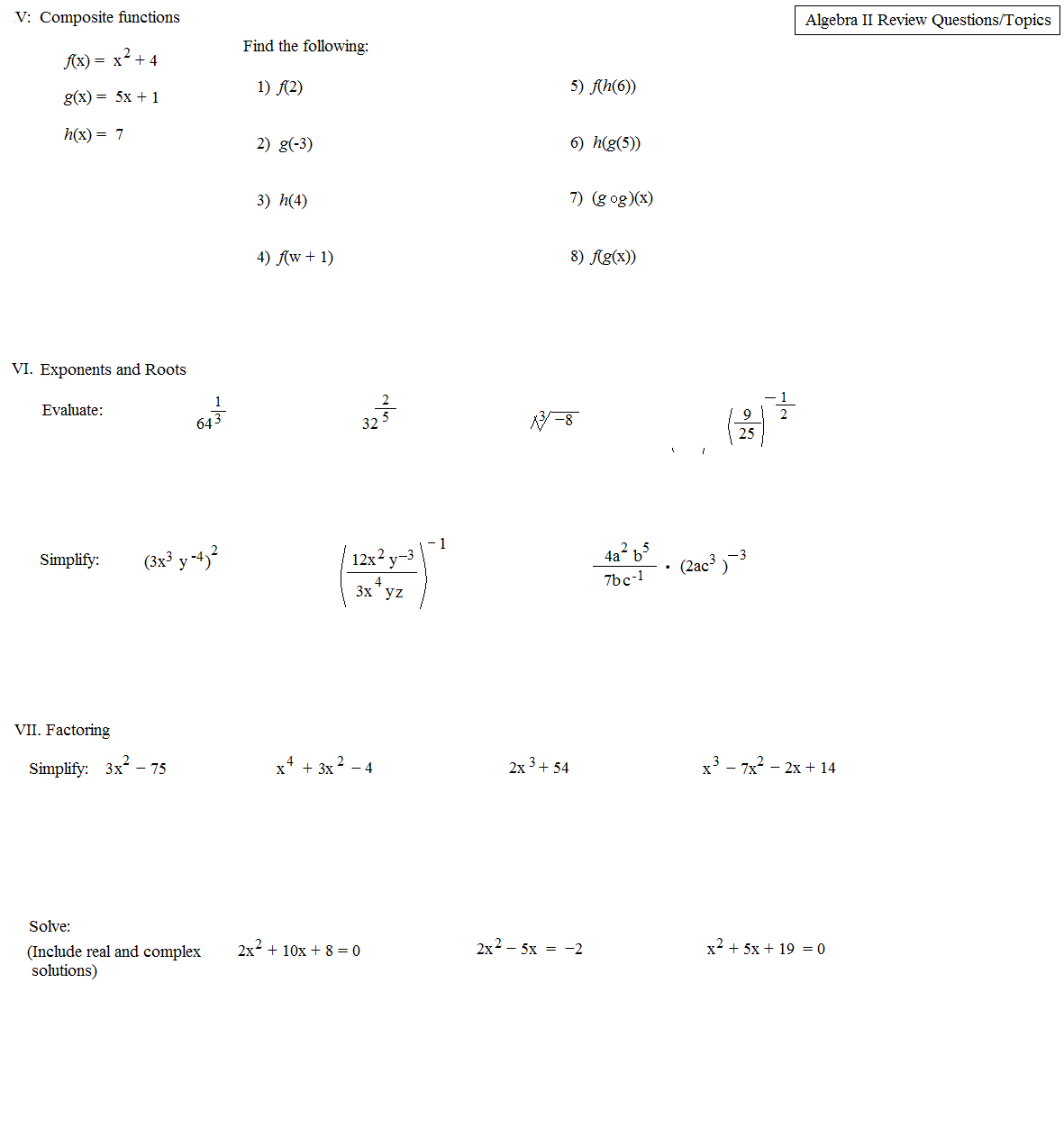 32 Complex Numbers Worksheet Answers