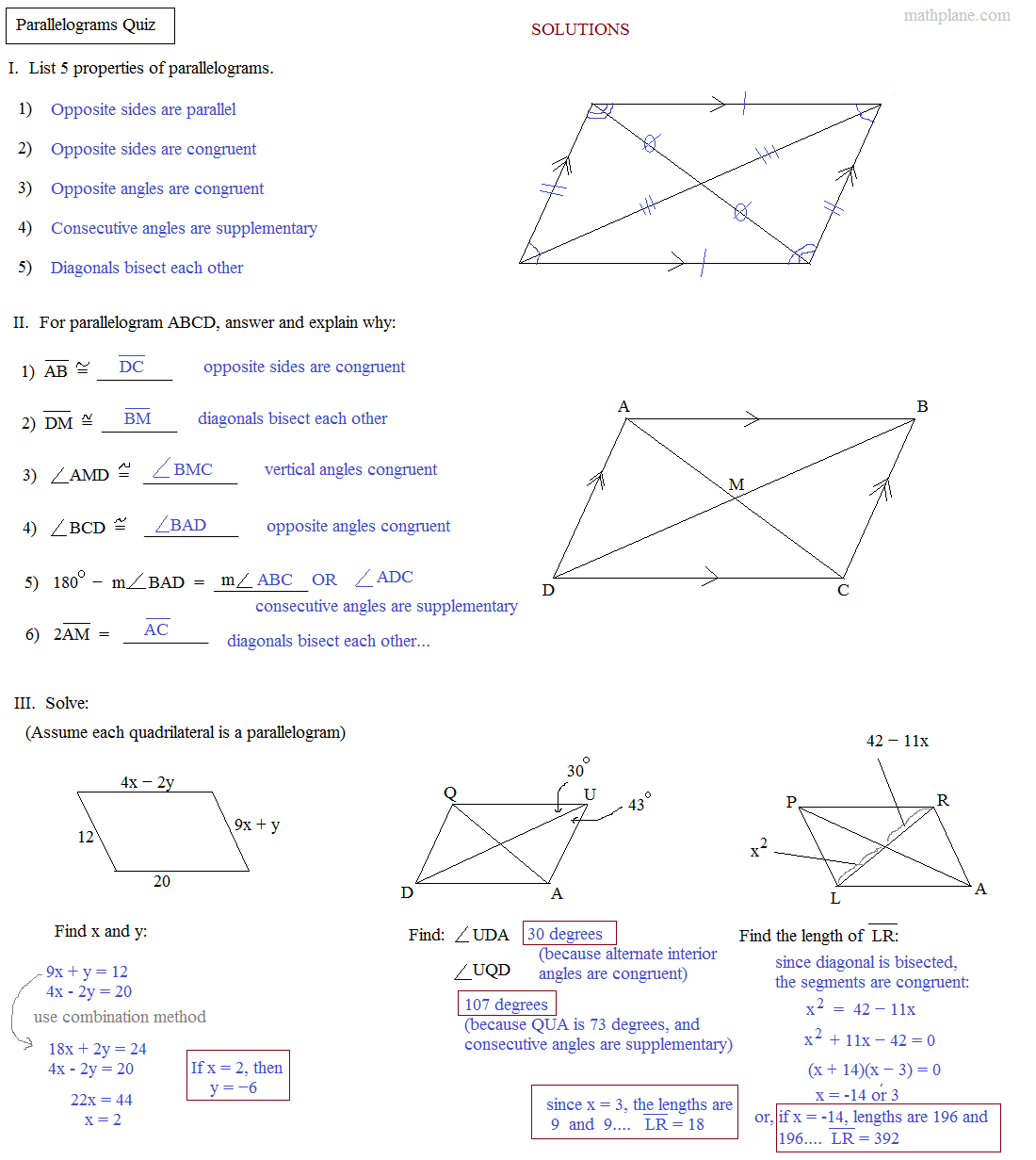 Worksheet Properties Of Parallelograms Worksheet Grass Fedjp Worksheet Study Site