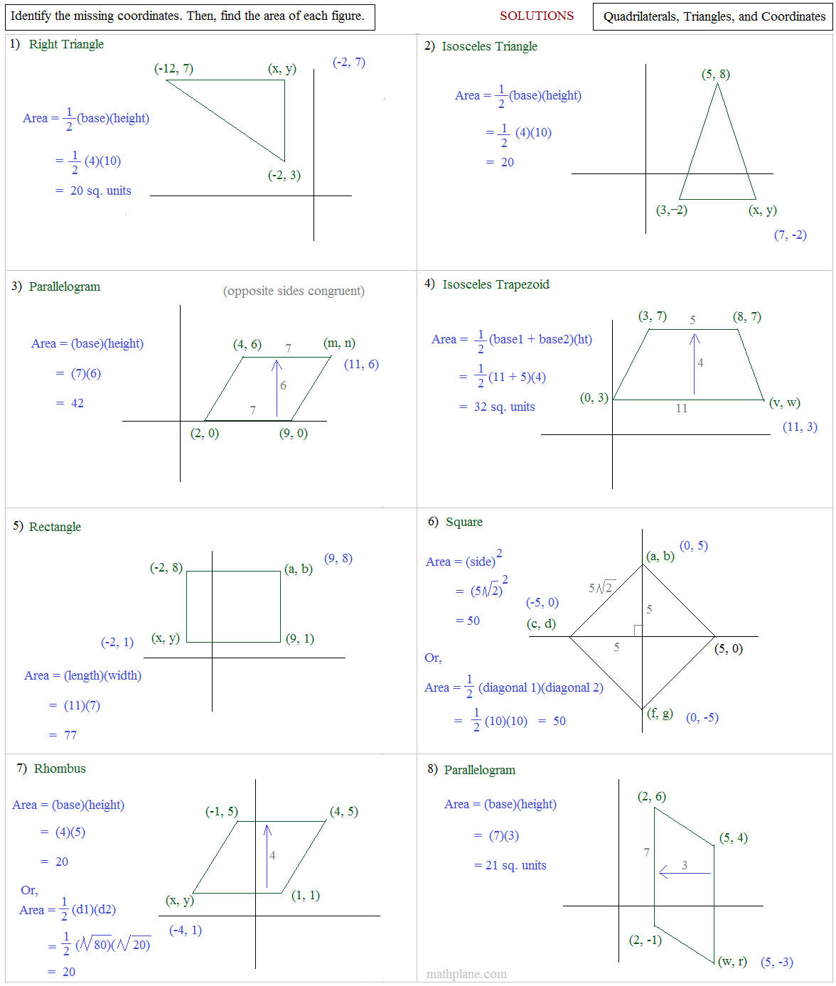 Kite Worksheet Math