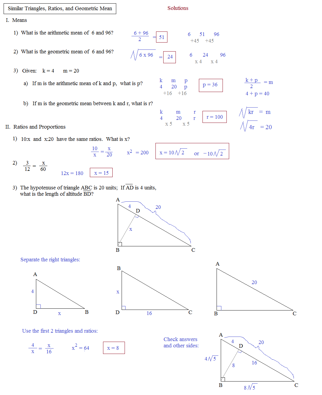 Mean Median And Worksheet Answers