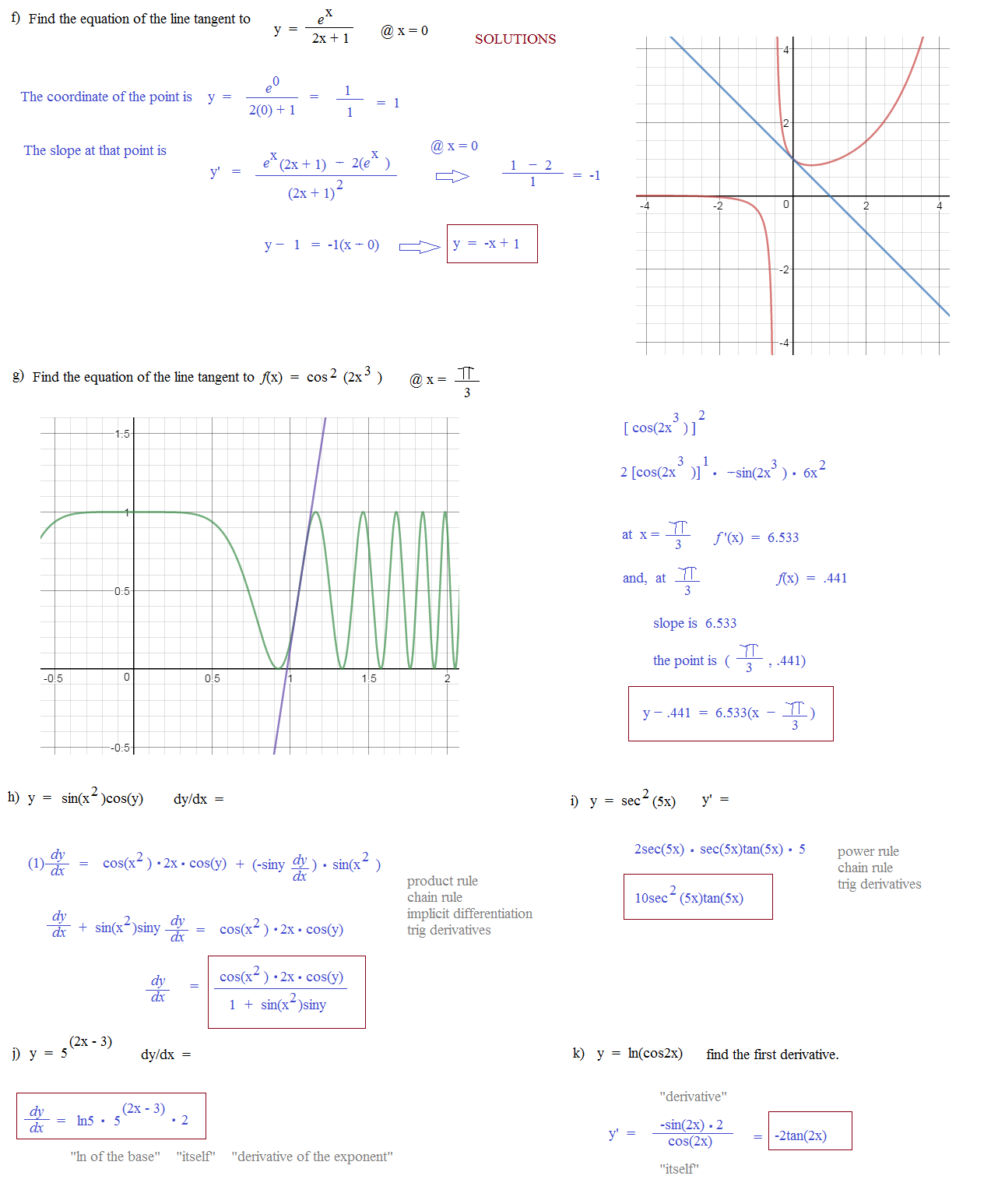 Precalculus 441 Solving Trigonometric Equations Worksheet