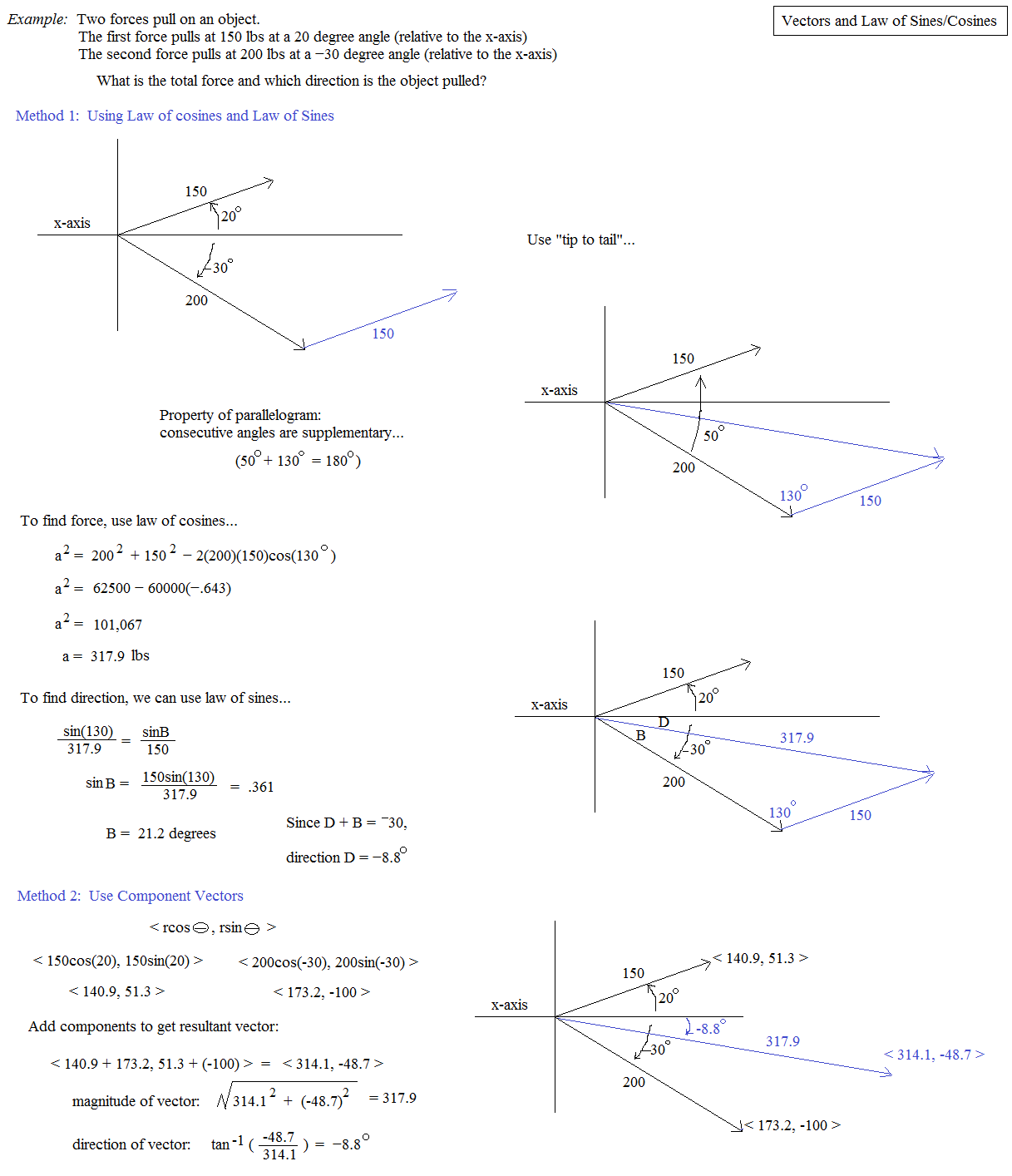 Law Of Sines And Law Of Cosines Worksheet Law Of Cosines