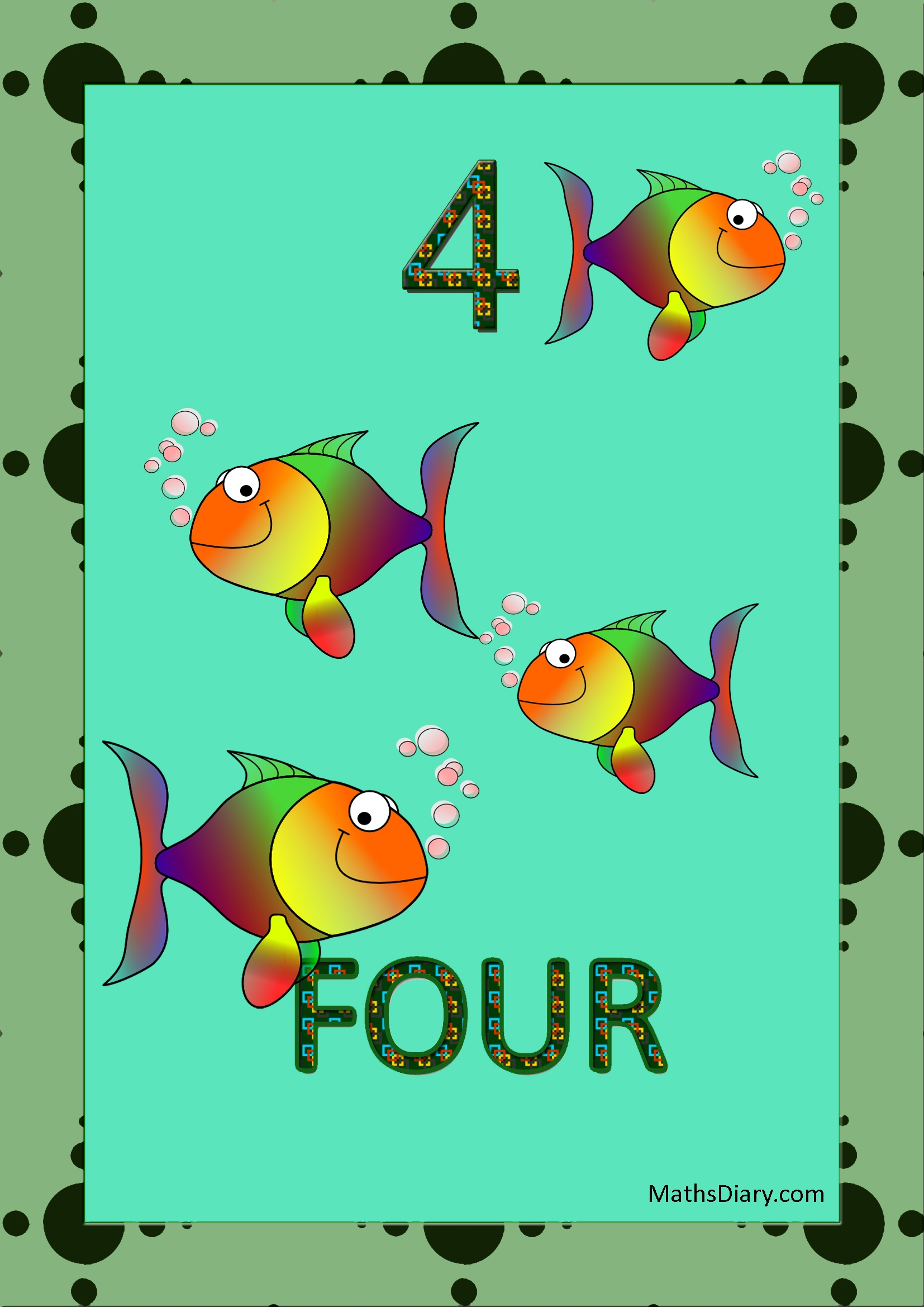 Learning Counting And Recognition Of Number 4 Worksheets Level 1 Help Sheets Part 2