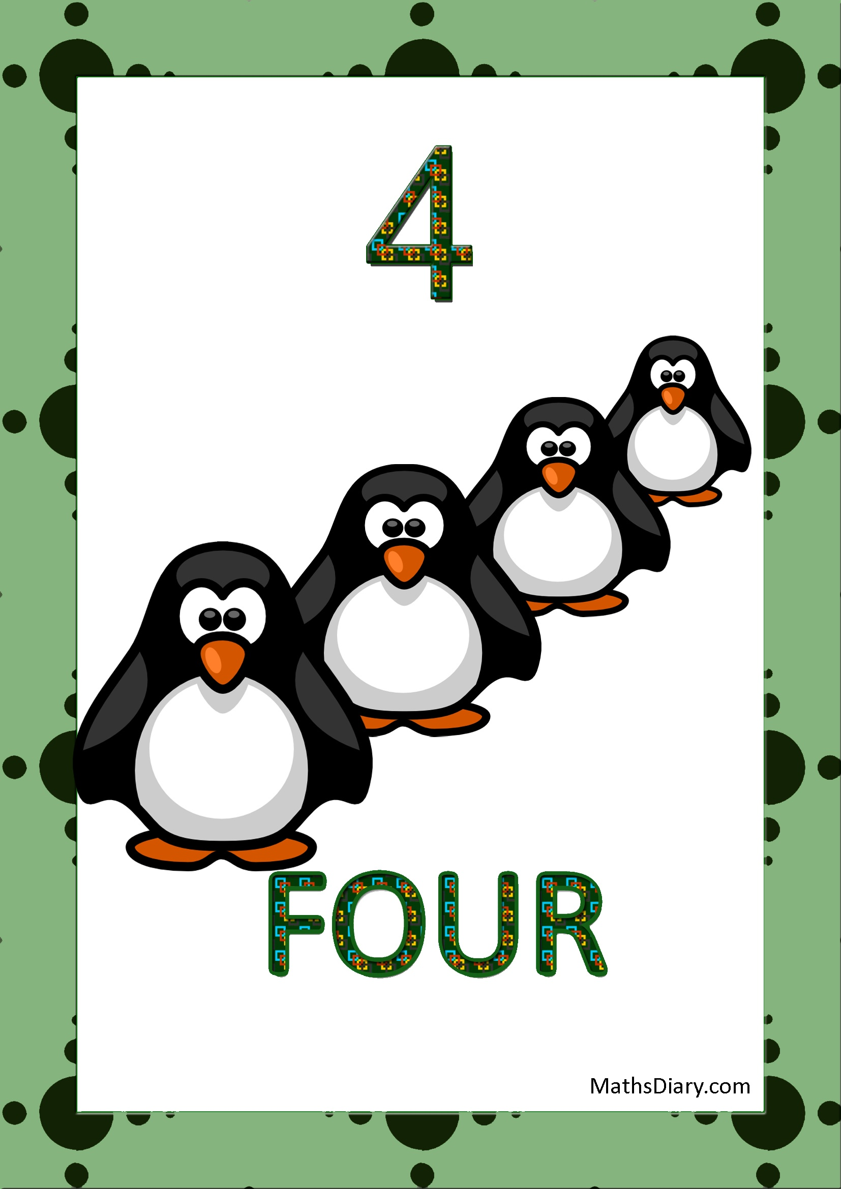 Learning Counting And Recognition Of Number 4 Worksheets