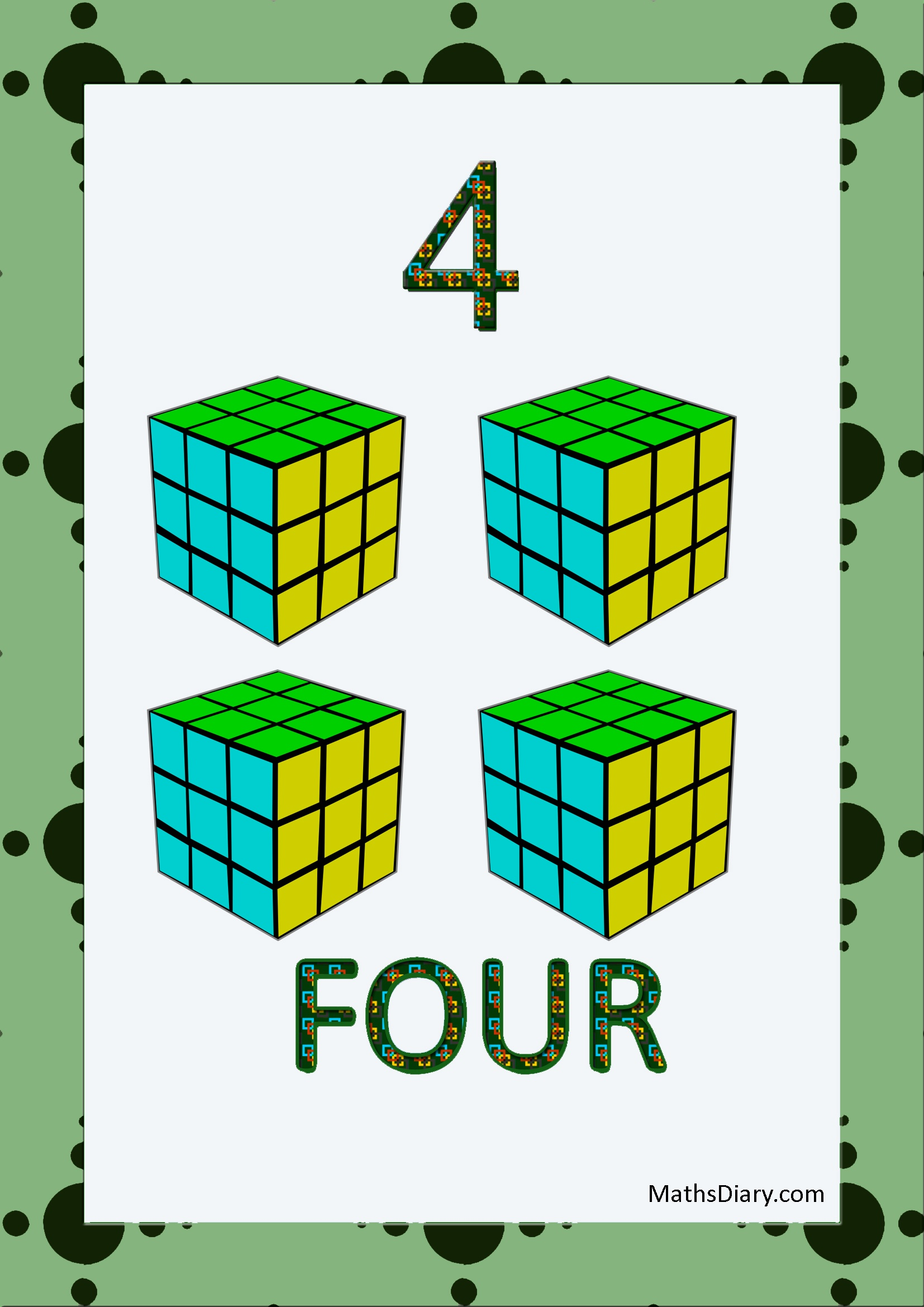 Learning Counting And Recognition Of Number 4 Worksheets Level 1 Help Sheets Part 4