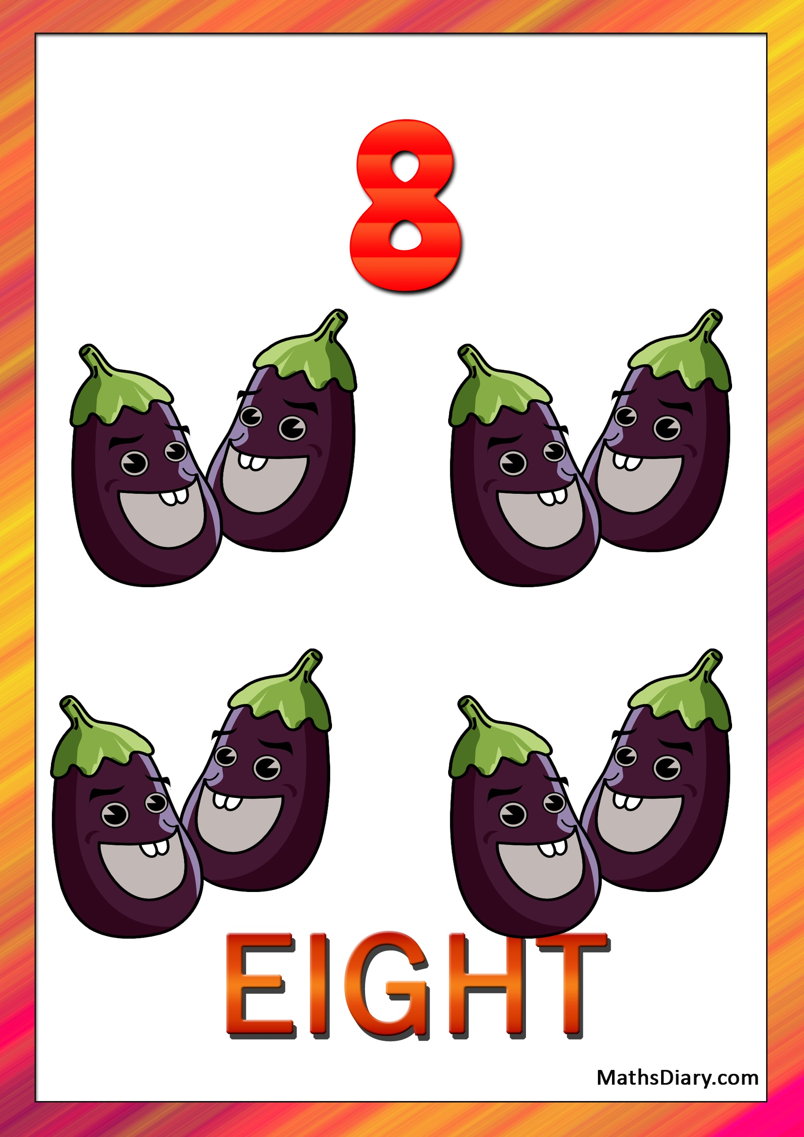 Learning Counting And Recognition Of Number 8 Worksheets