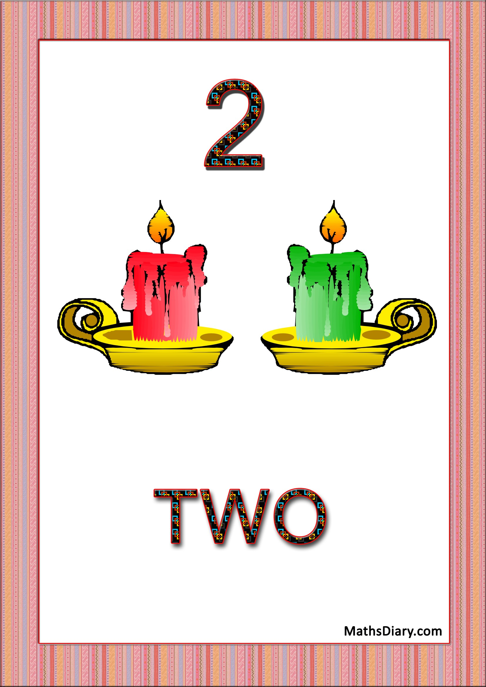 Learning Counting And Recognition Of Number 2 Level 2 Worksheets