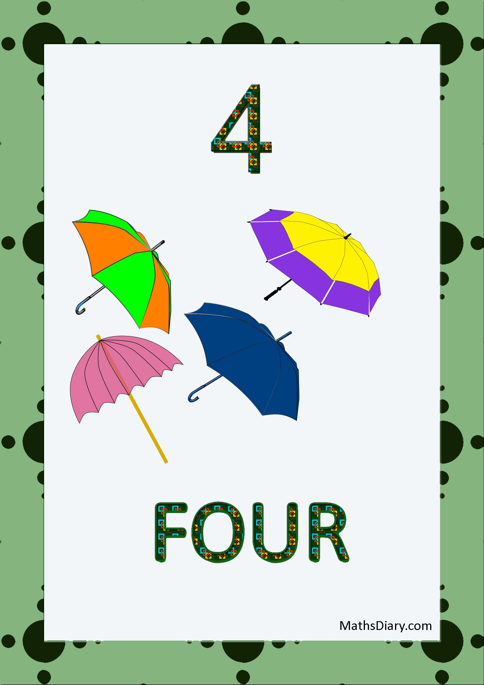 Learning Counting And Recognition Of Number 4 Level 2