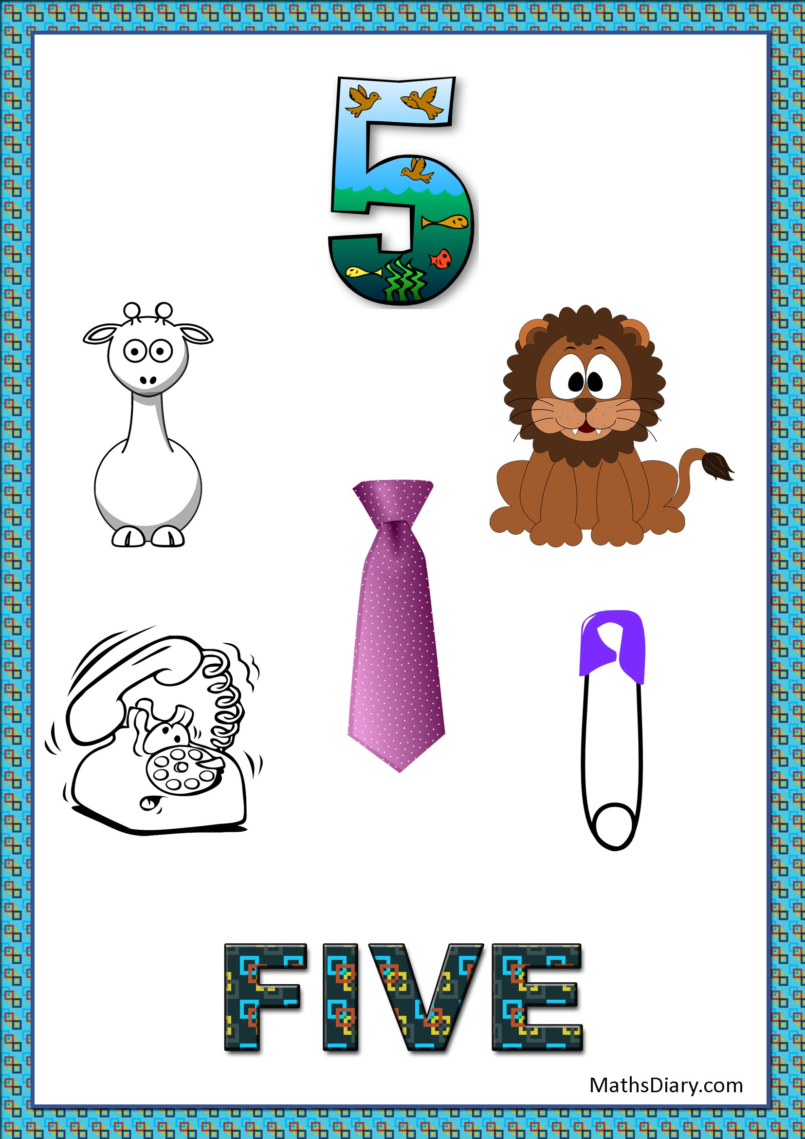 Learning Counting And Recognition Of Number 5 Level 3