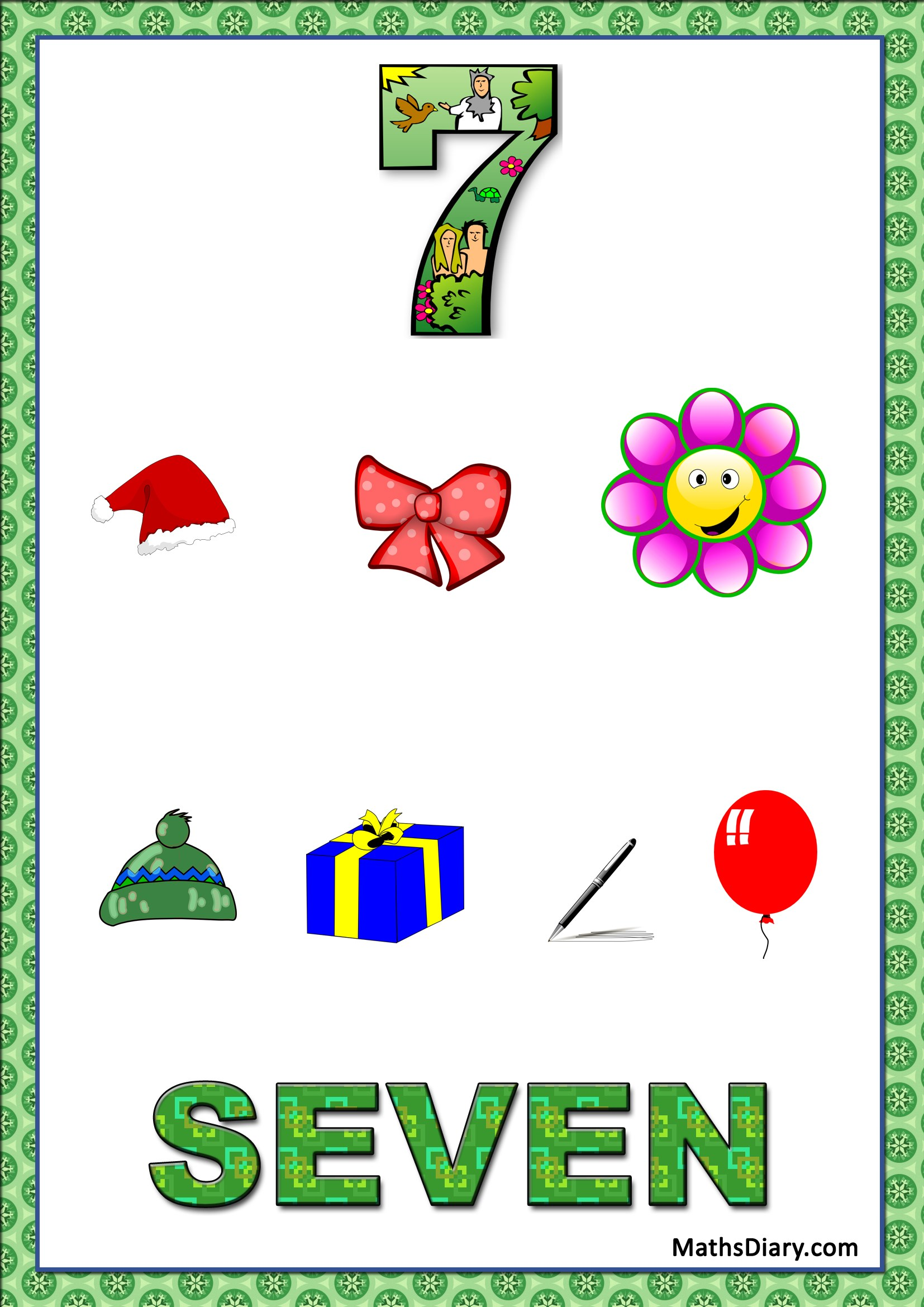 Learning Counting And Recognition Of Number 7 Level 3