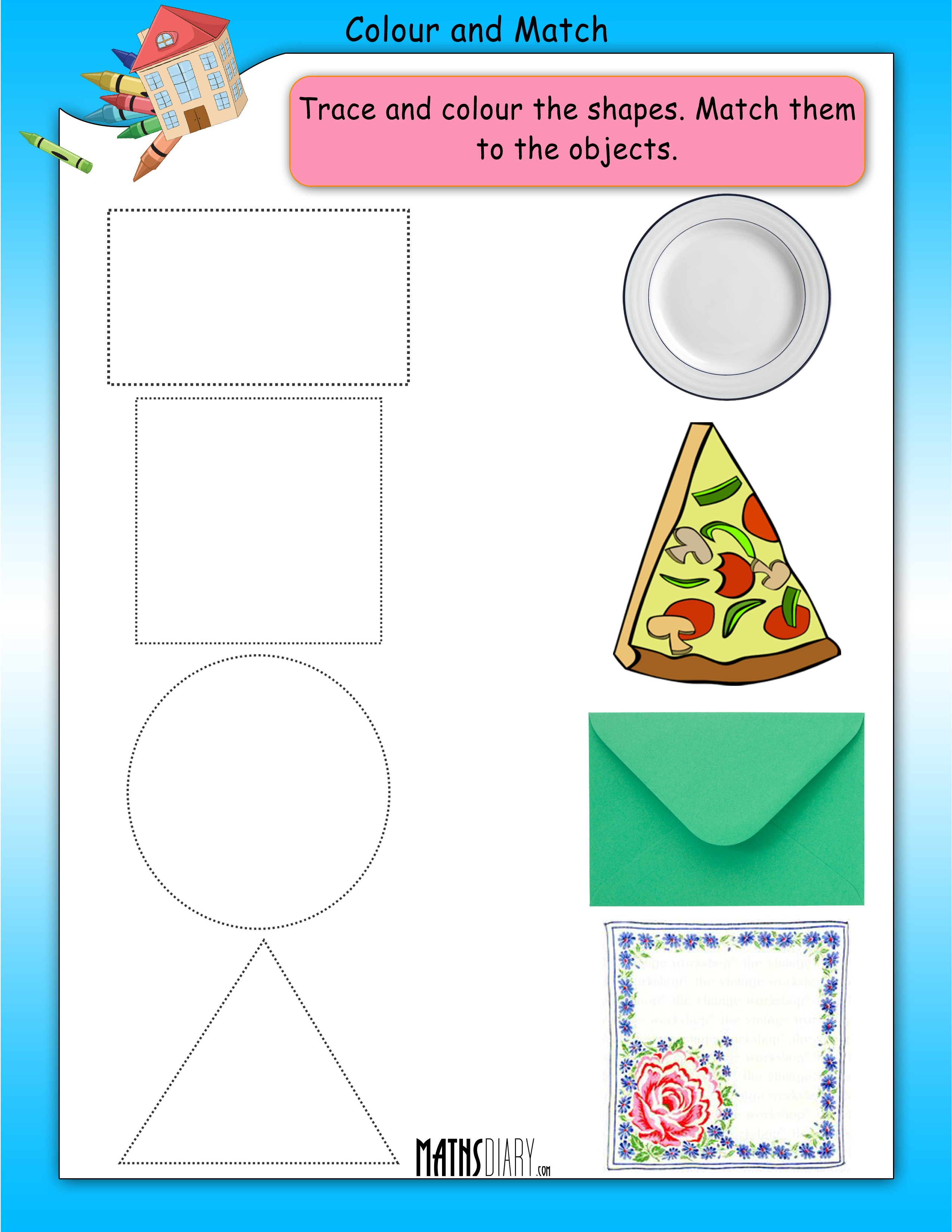 Pre School Matching Worksheet
