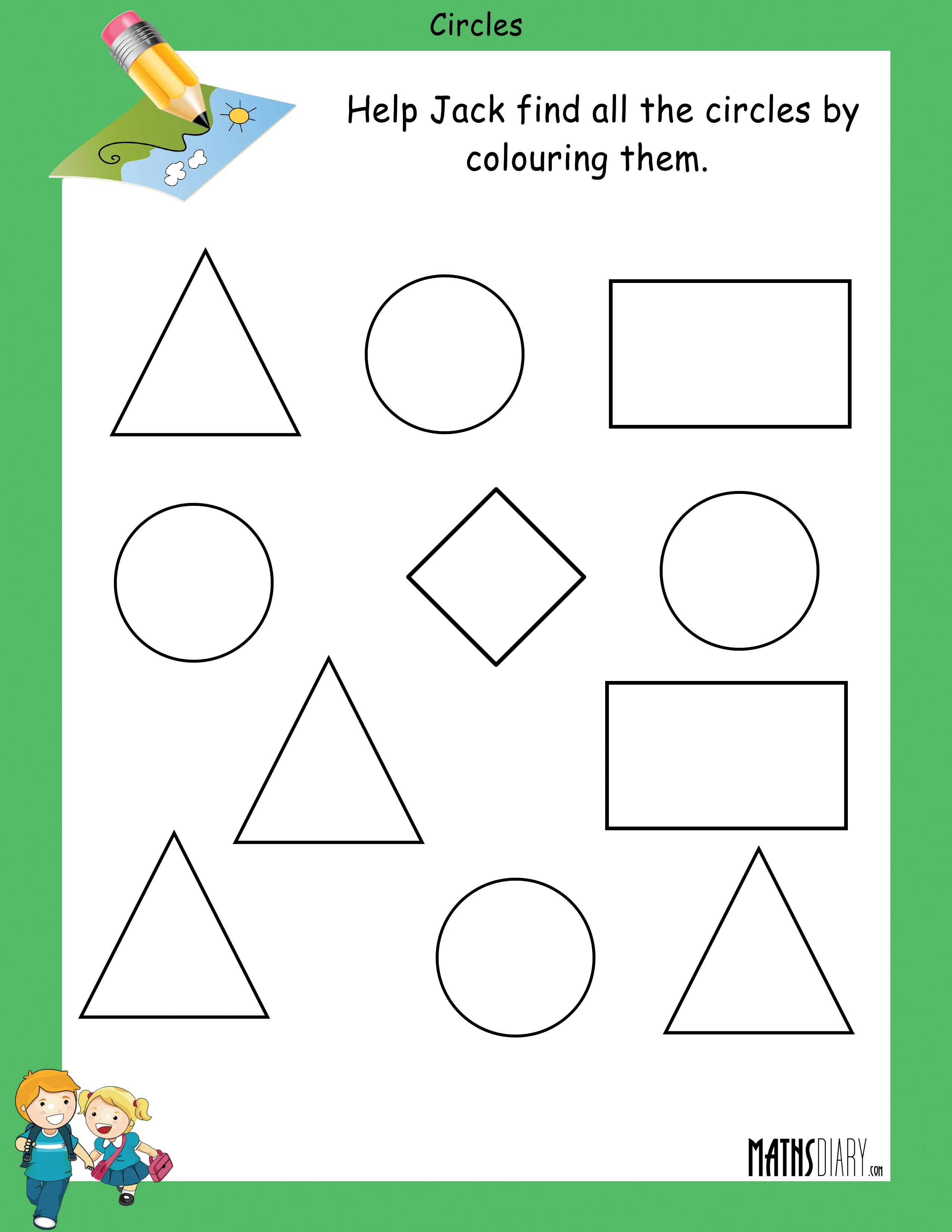Shapes Lkg Math Worksheets