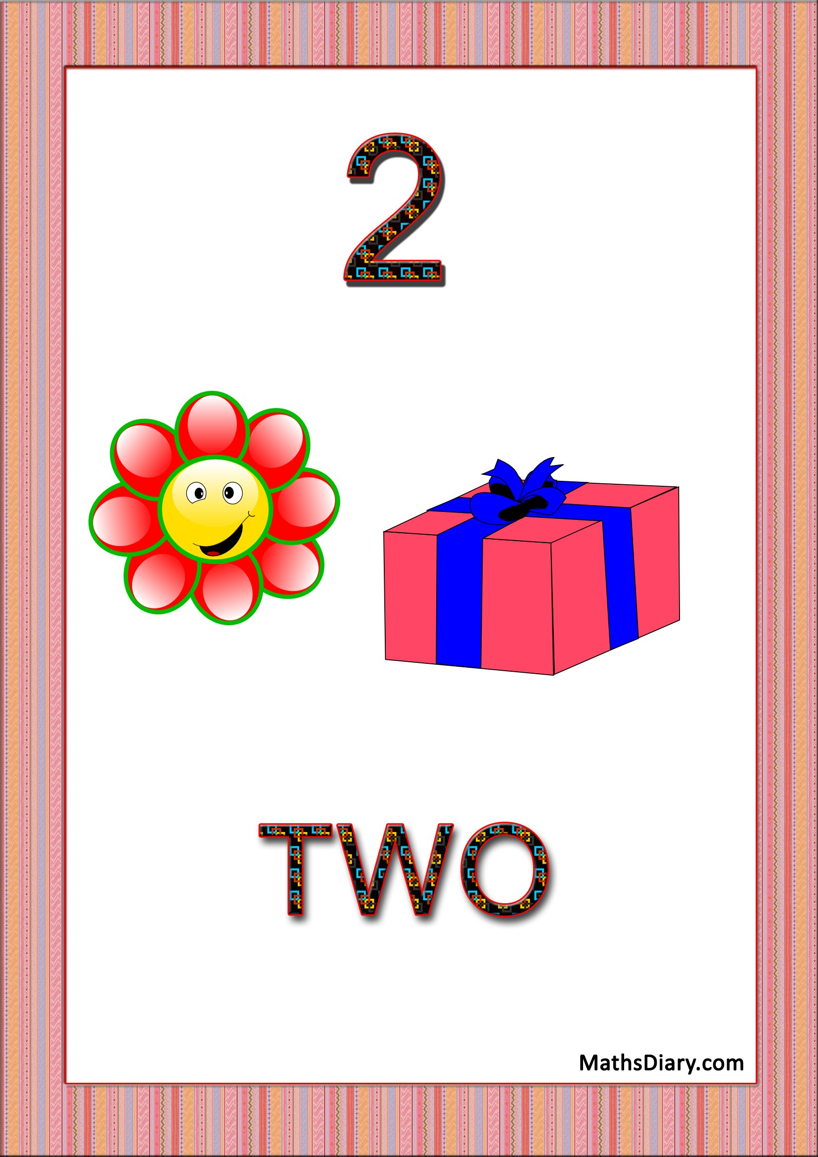 Learning Counting And Recognition Of Number 2 Level 3