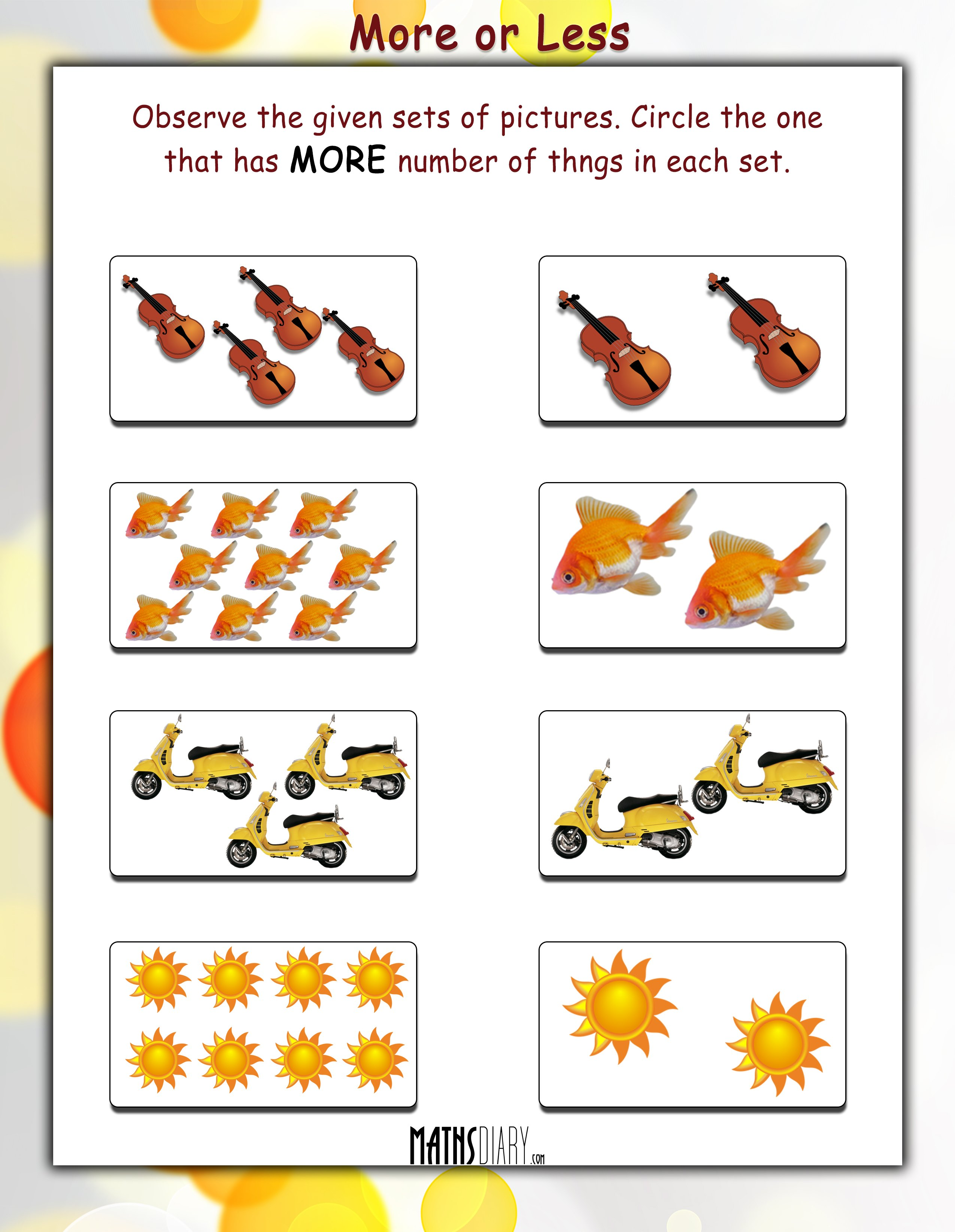 Practical Maths Lkg Math Worksheets