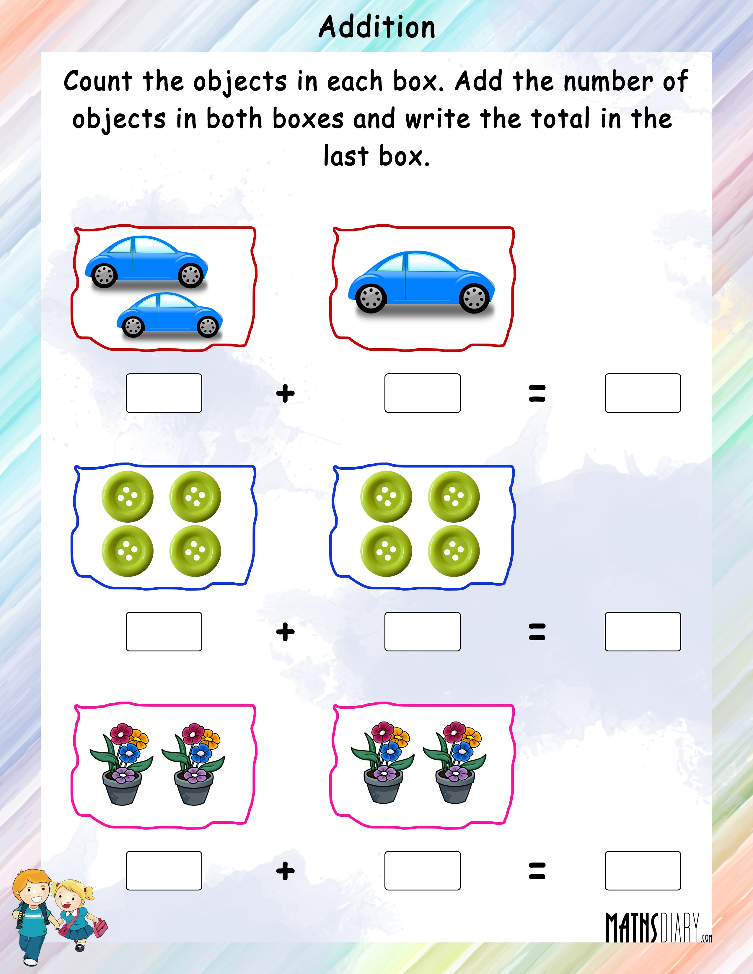 Grade 1 Addition Worksheet