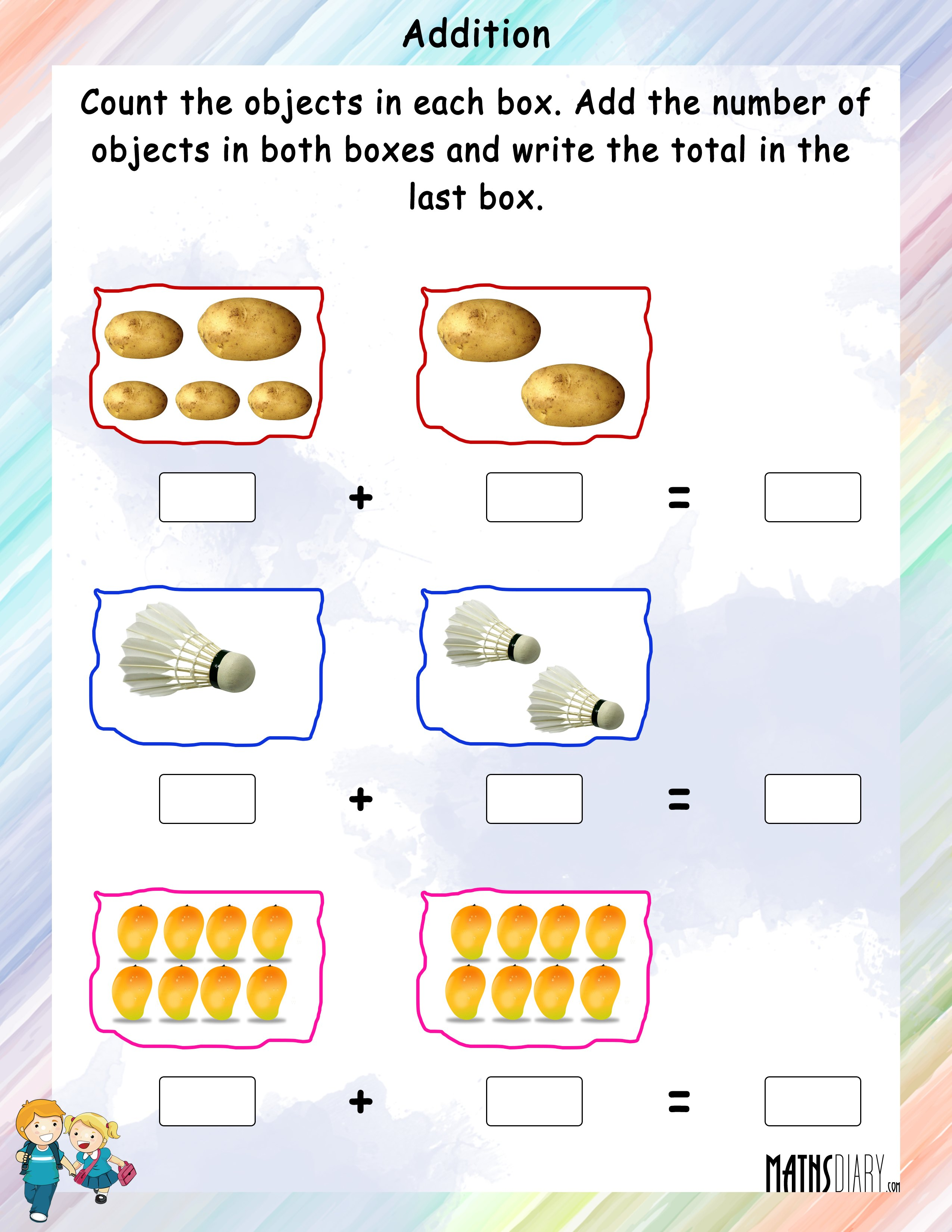 Addition Nursery Math Worksheets