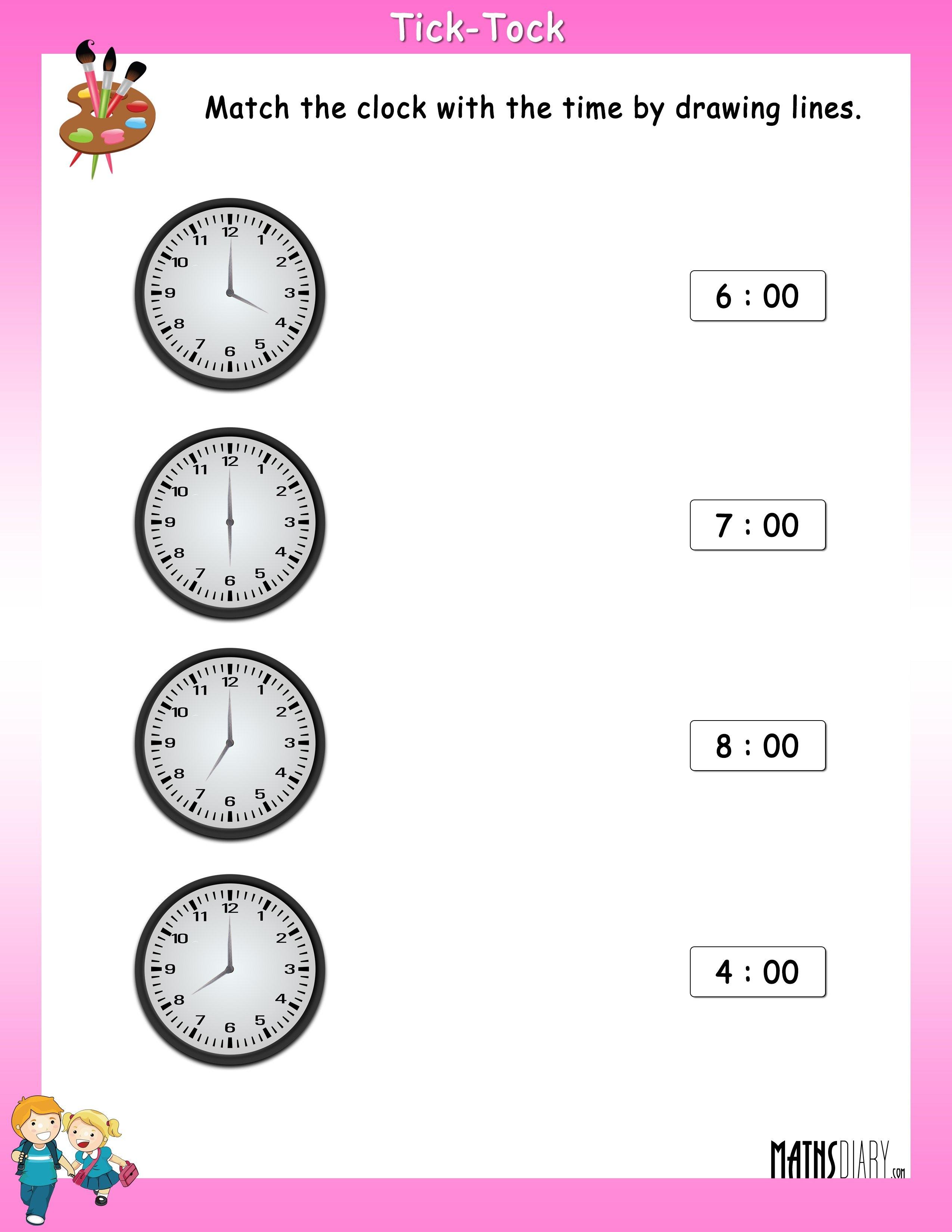 Time Grade 1 Math Worksheets