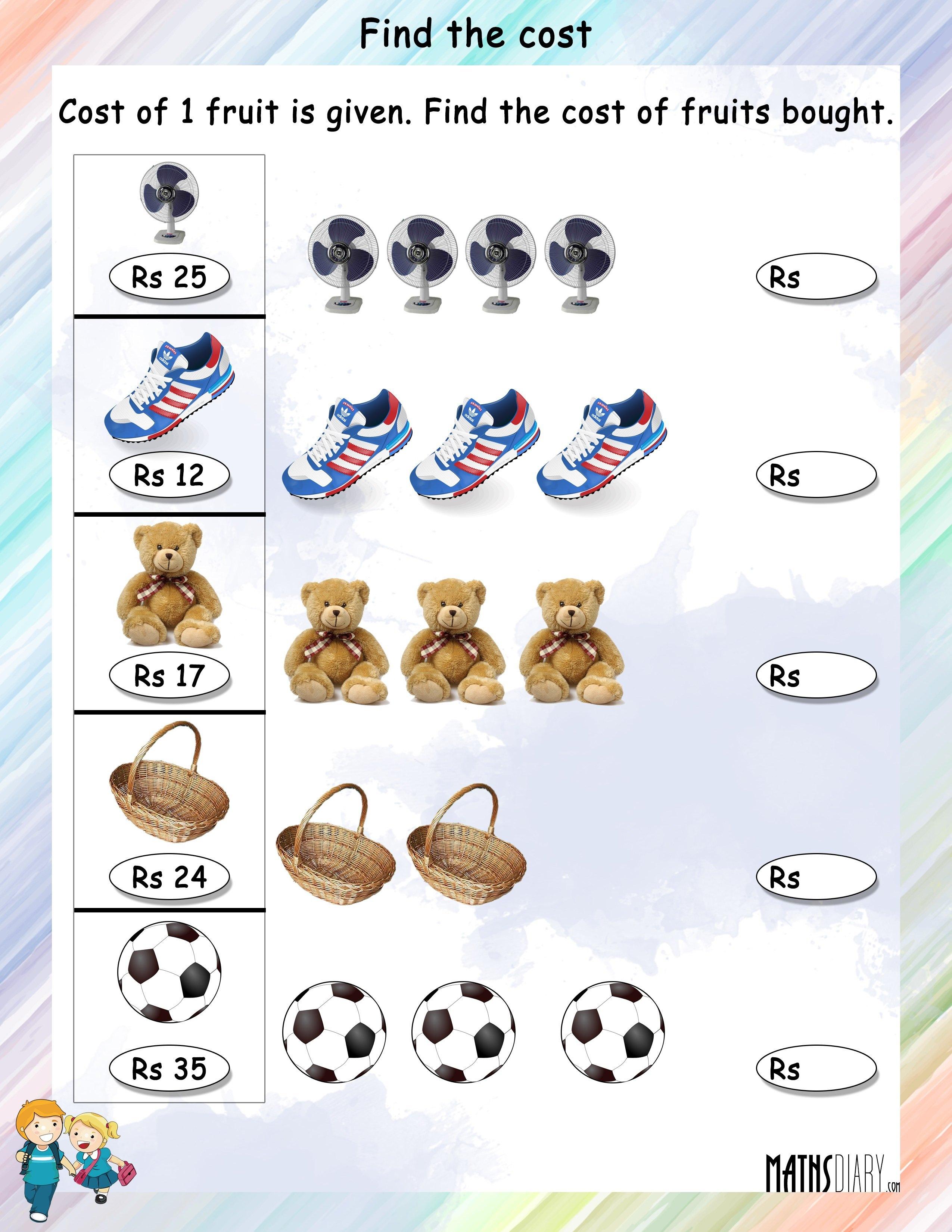 Money Grade 1 Math Worksheets