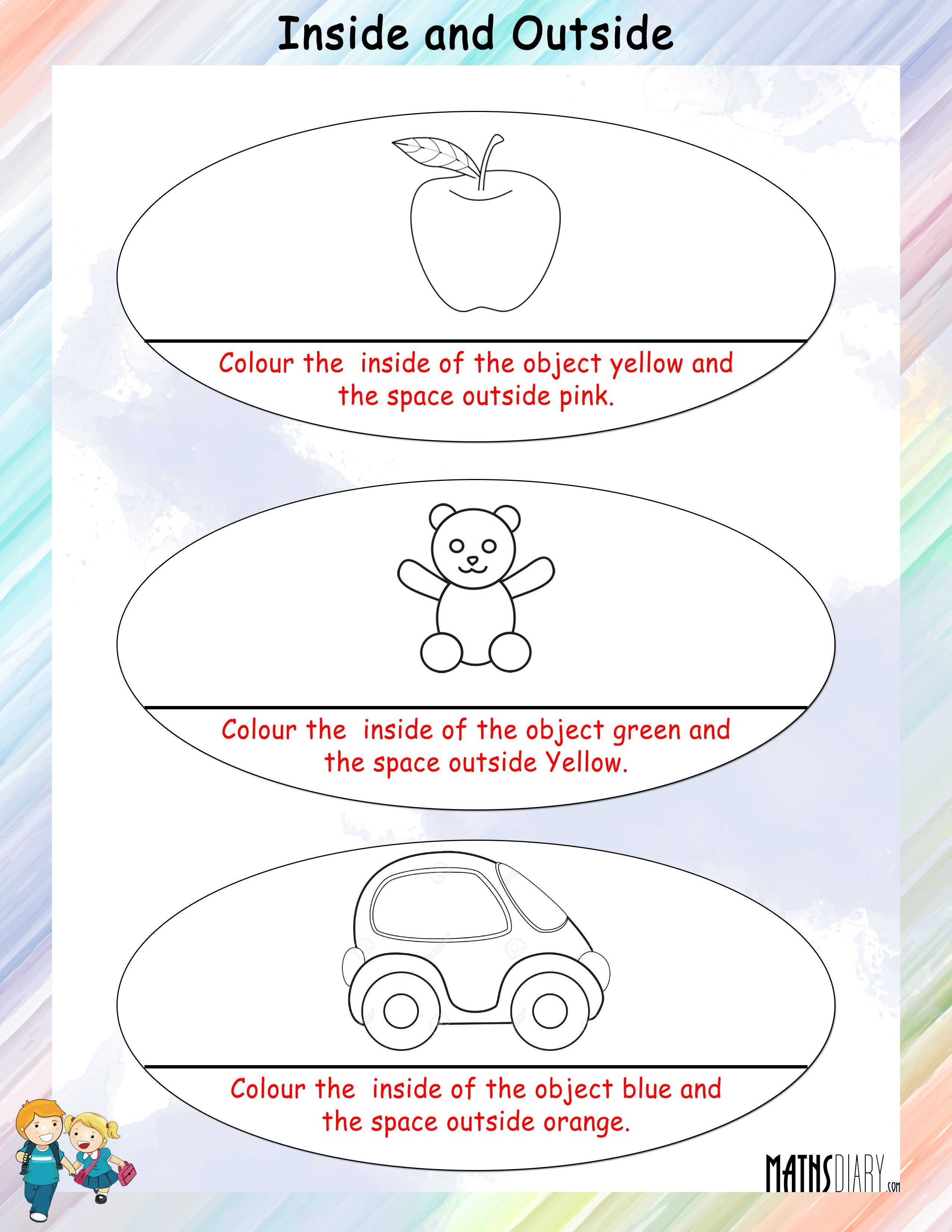 Kindergarten Worksheet Inside And Outside