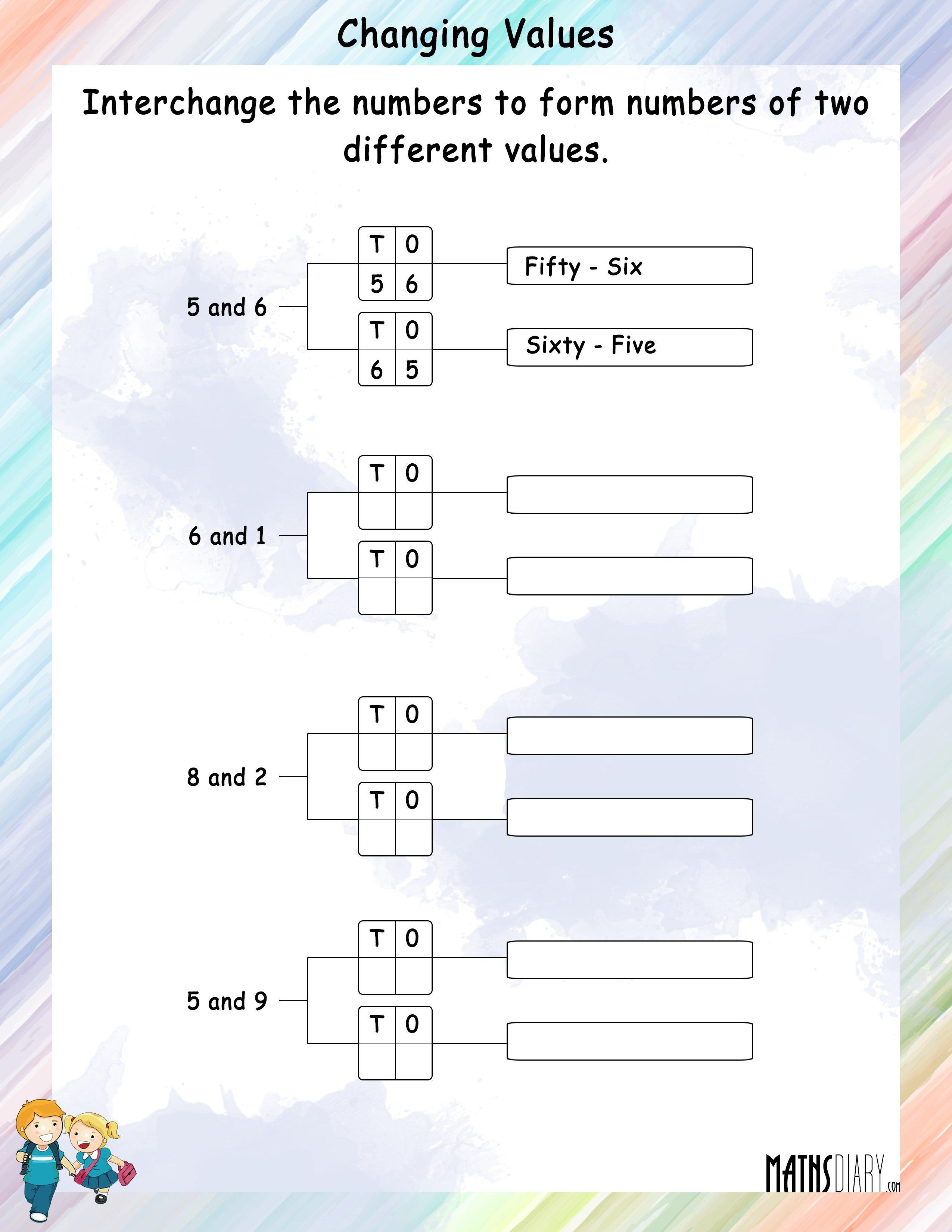 Numbers Grade 2 Math Worksheets