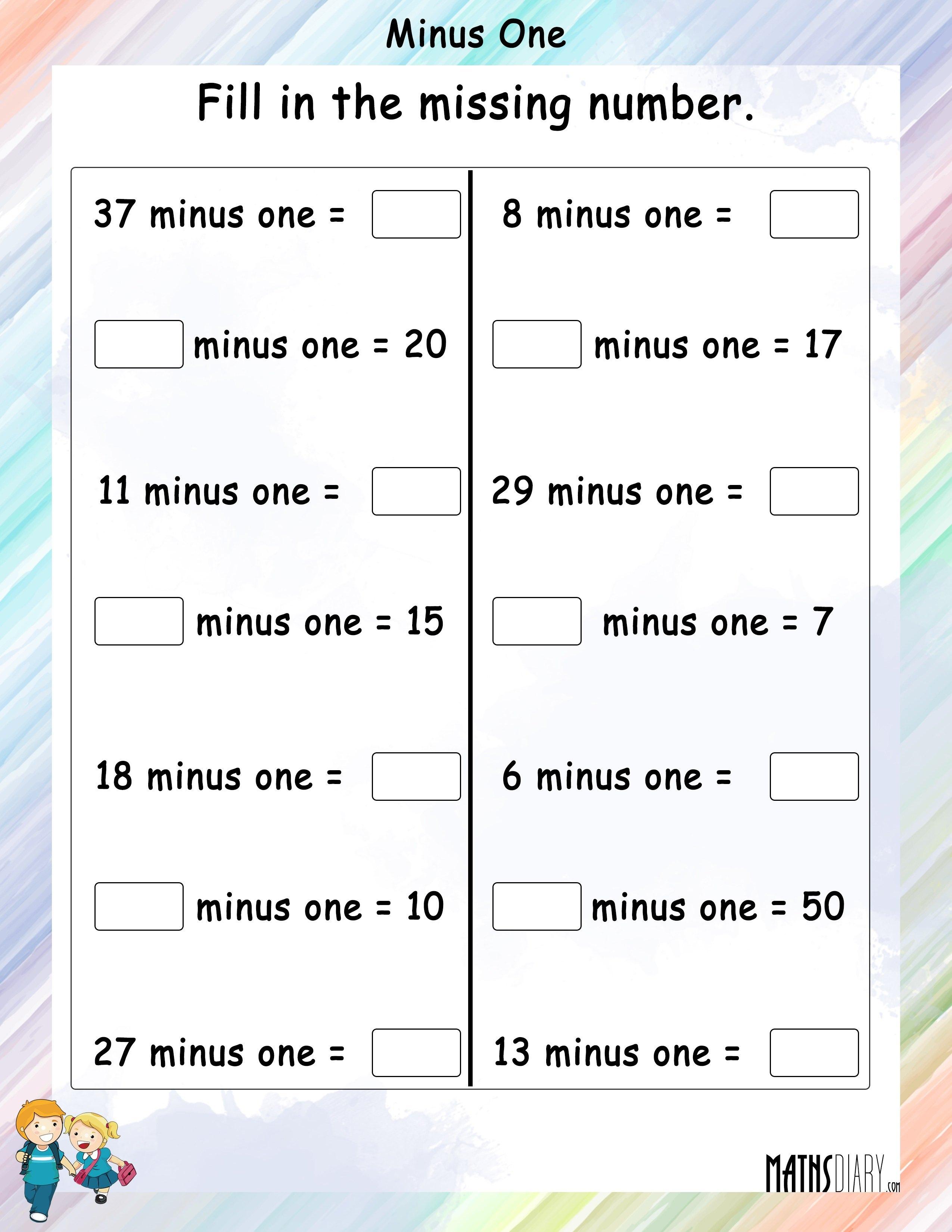 Subtracting One Minus One