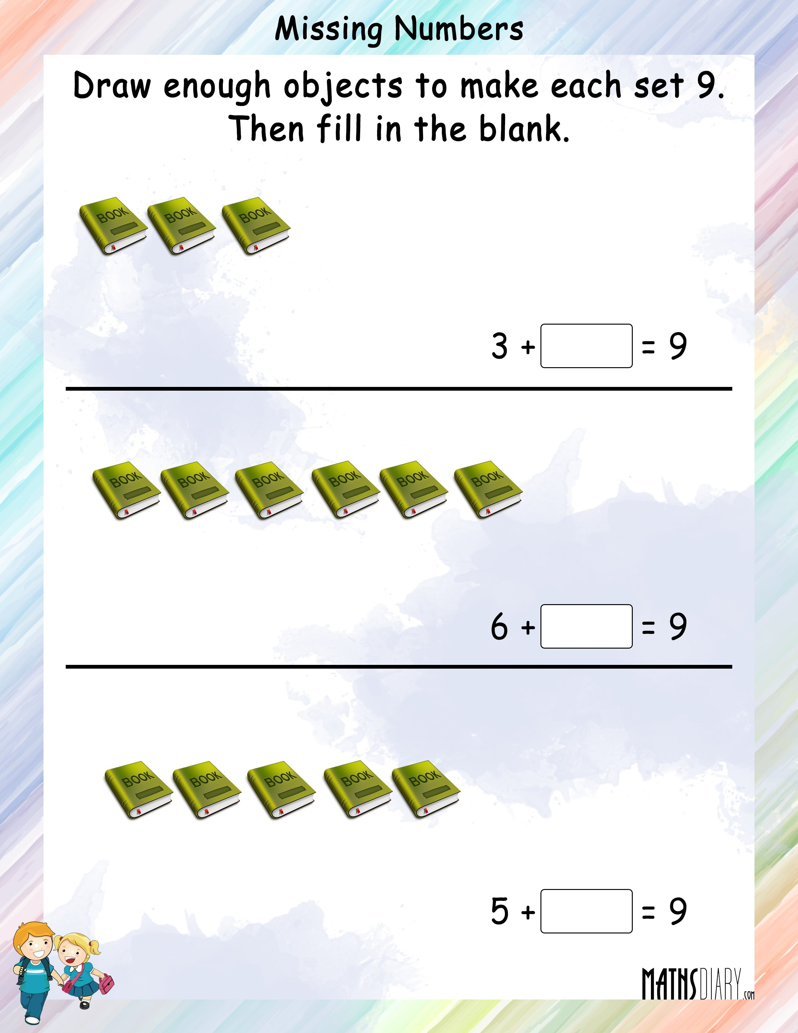 Counting Grade 1 Math Worksheets