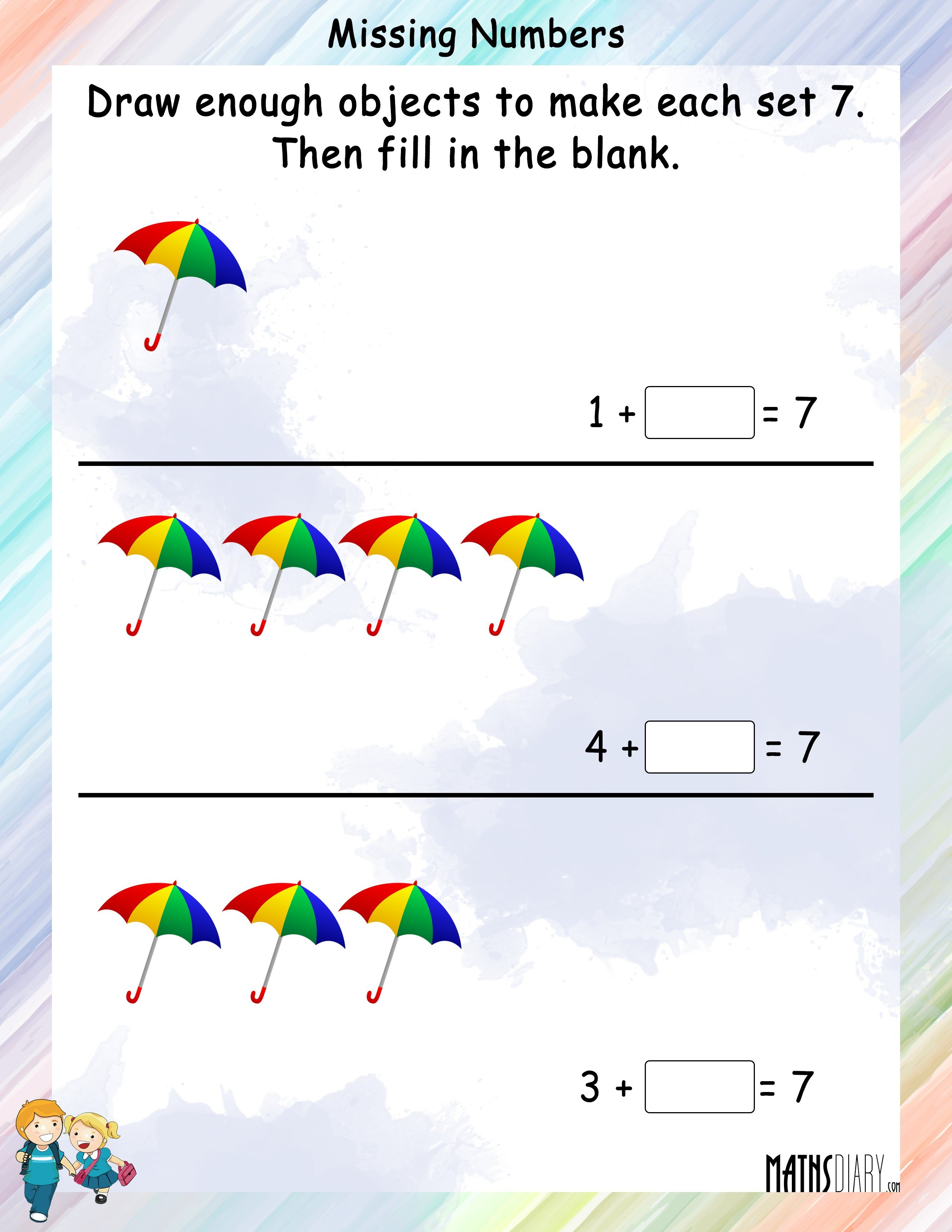 Draw And Color Objects To Complete The Given Counting