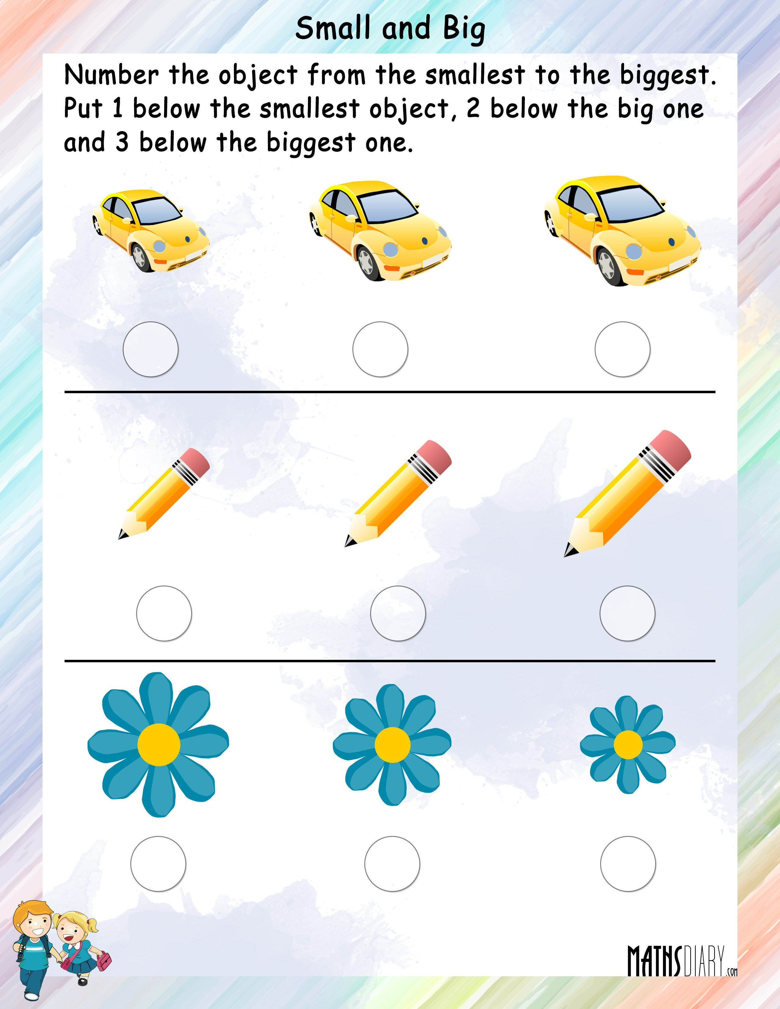 Measurement Grade 1 Math Worksheets