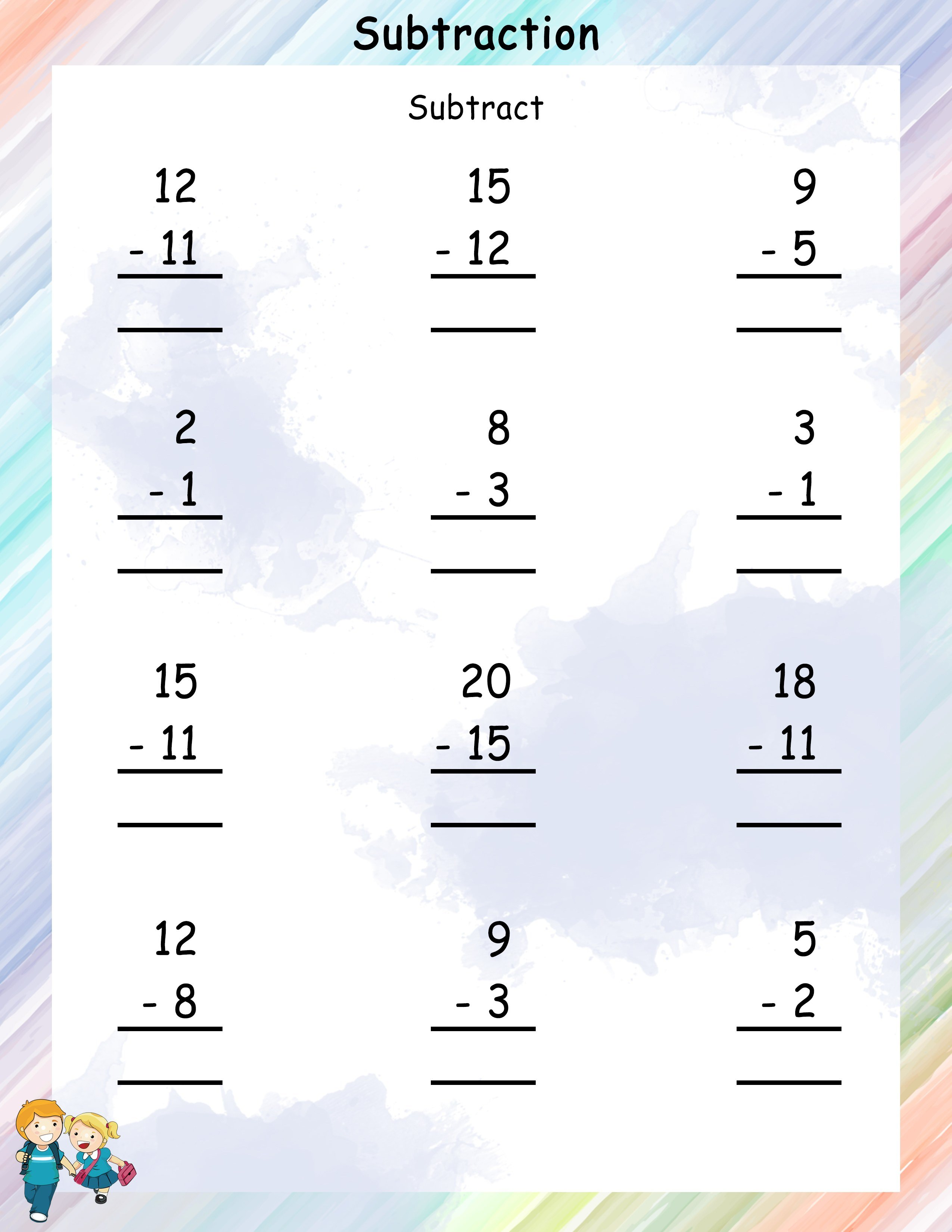 Subtraction Grade 1 Math Worksheets