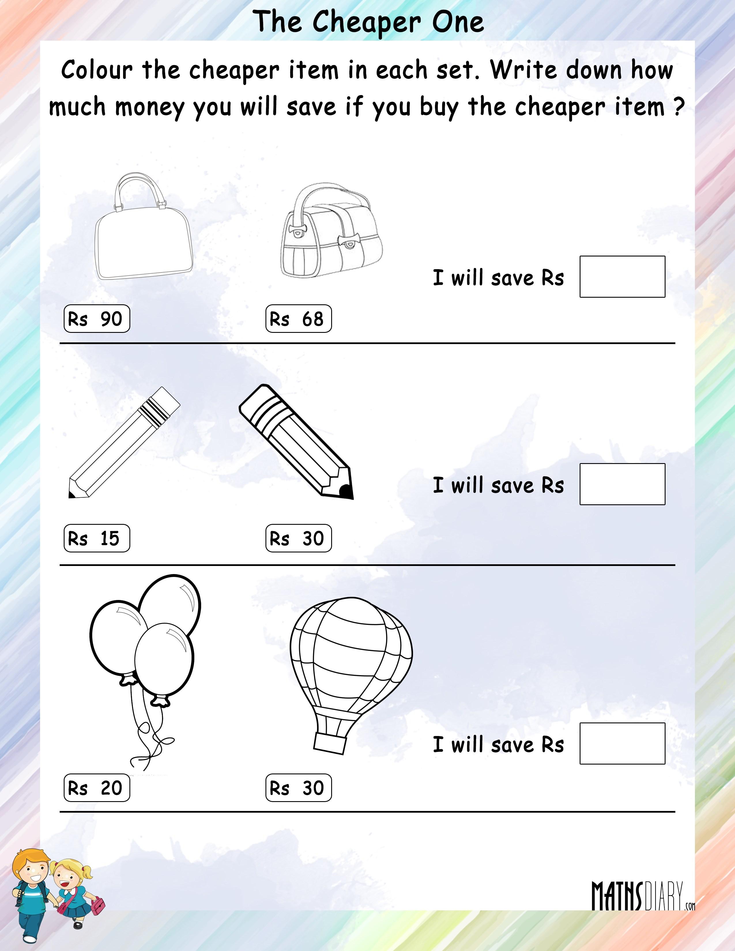 Colouring Worksheets Grade 1 Math Worksheets